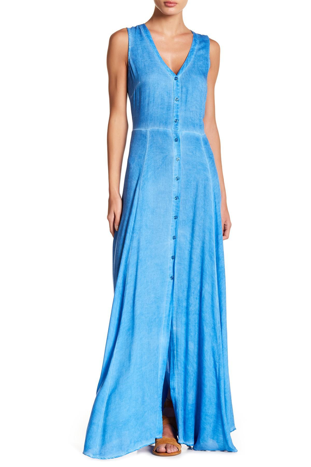 Lyst - On the road Havana Sleeveless Maxi Dress in Blue