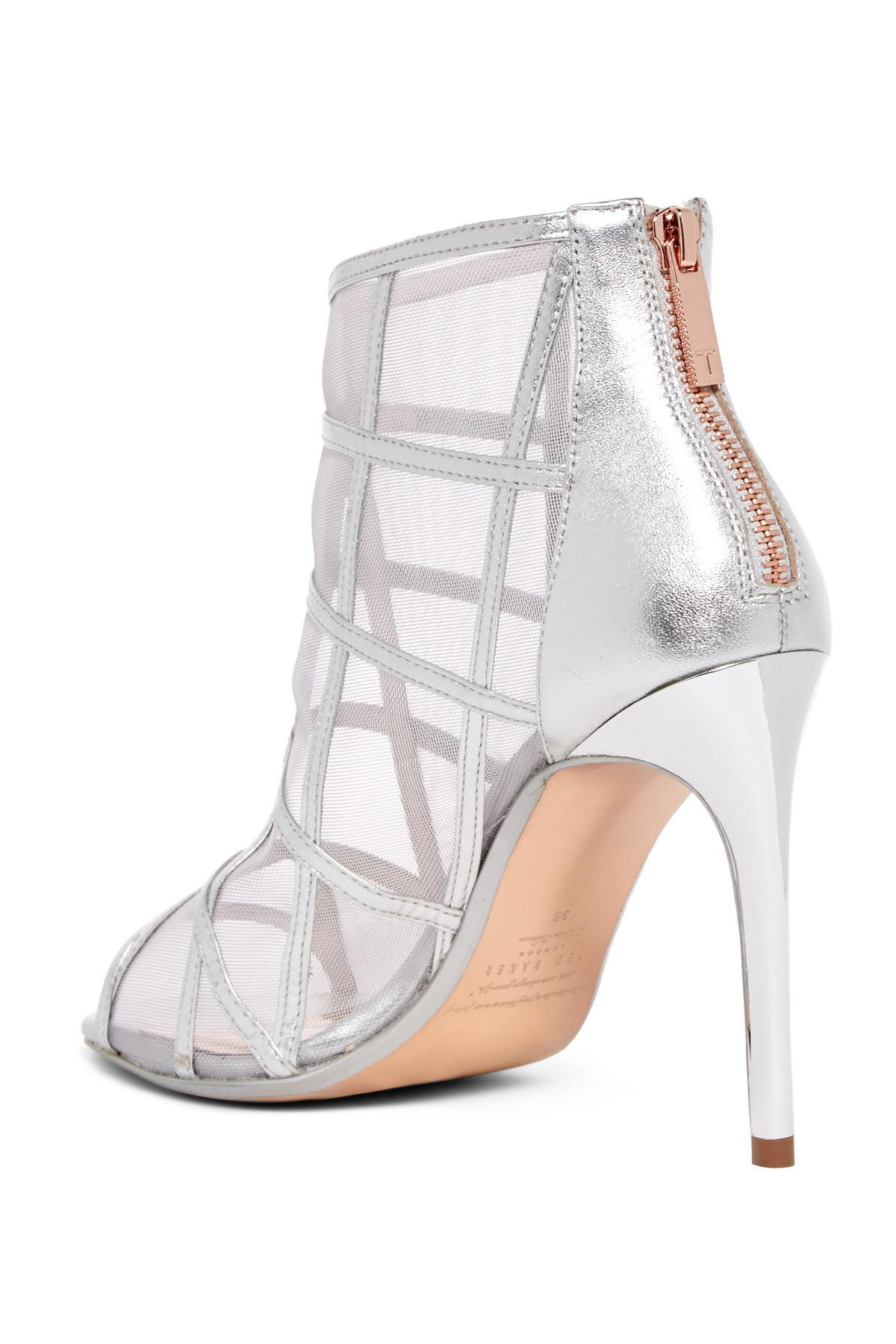 e76f9d0ed067 Ted Baker - Metallic Xstal Caged Leather Bootie - Lyst. View fullscreen