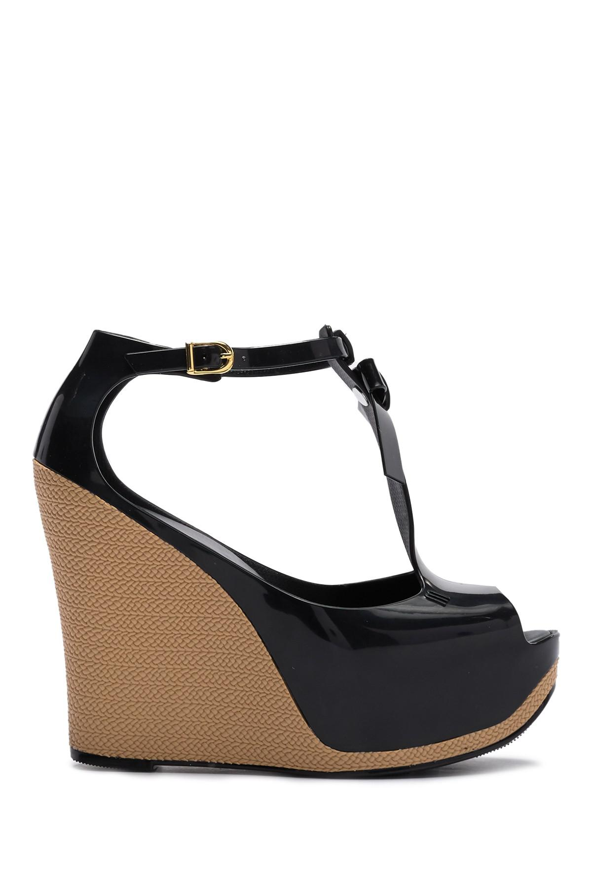 006073147d1 Melissa Peace Vi Jelly Wedge in Black - Lyst