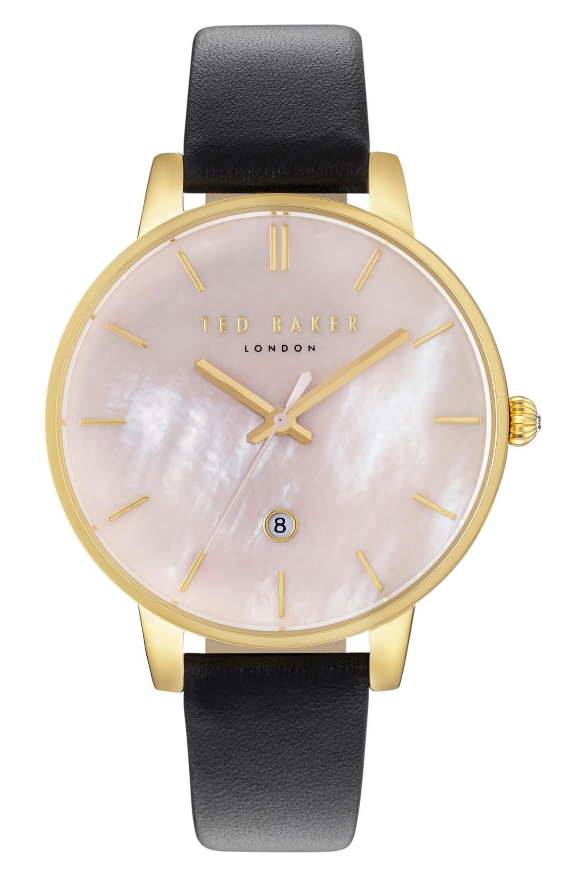 85dcd6b641af Lyst - Ted Baker Women s Kate Leather Strap Watch