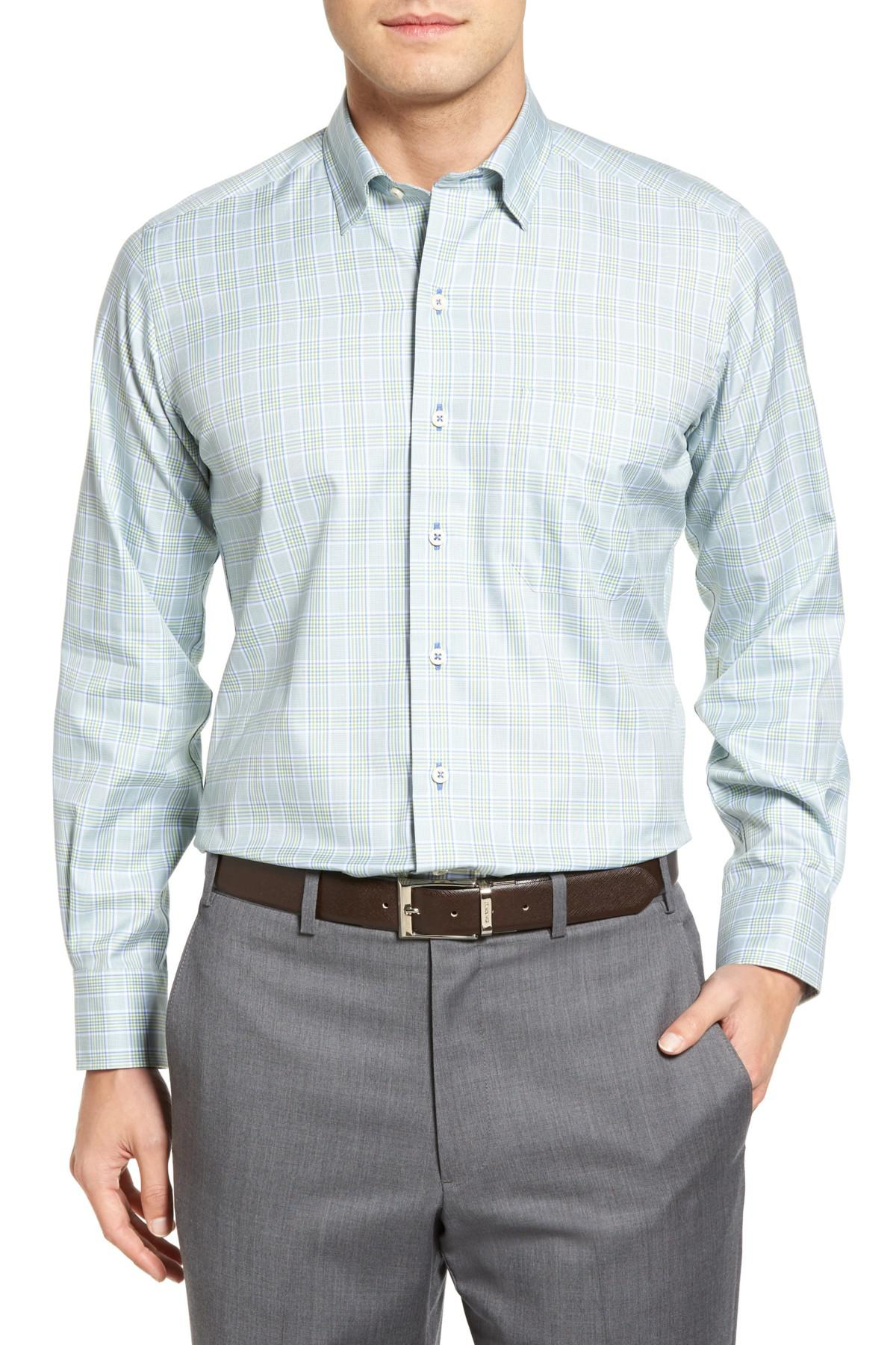 David donahue sport shirt in blue for men lyst for David donahue french cuff shirts