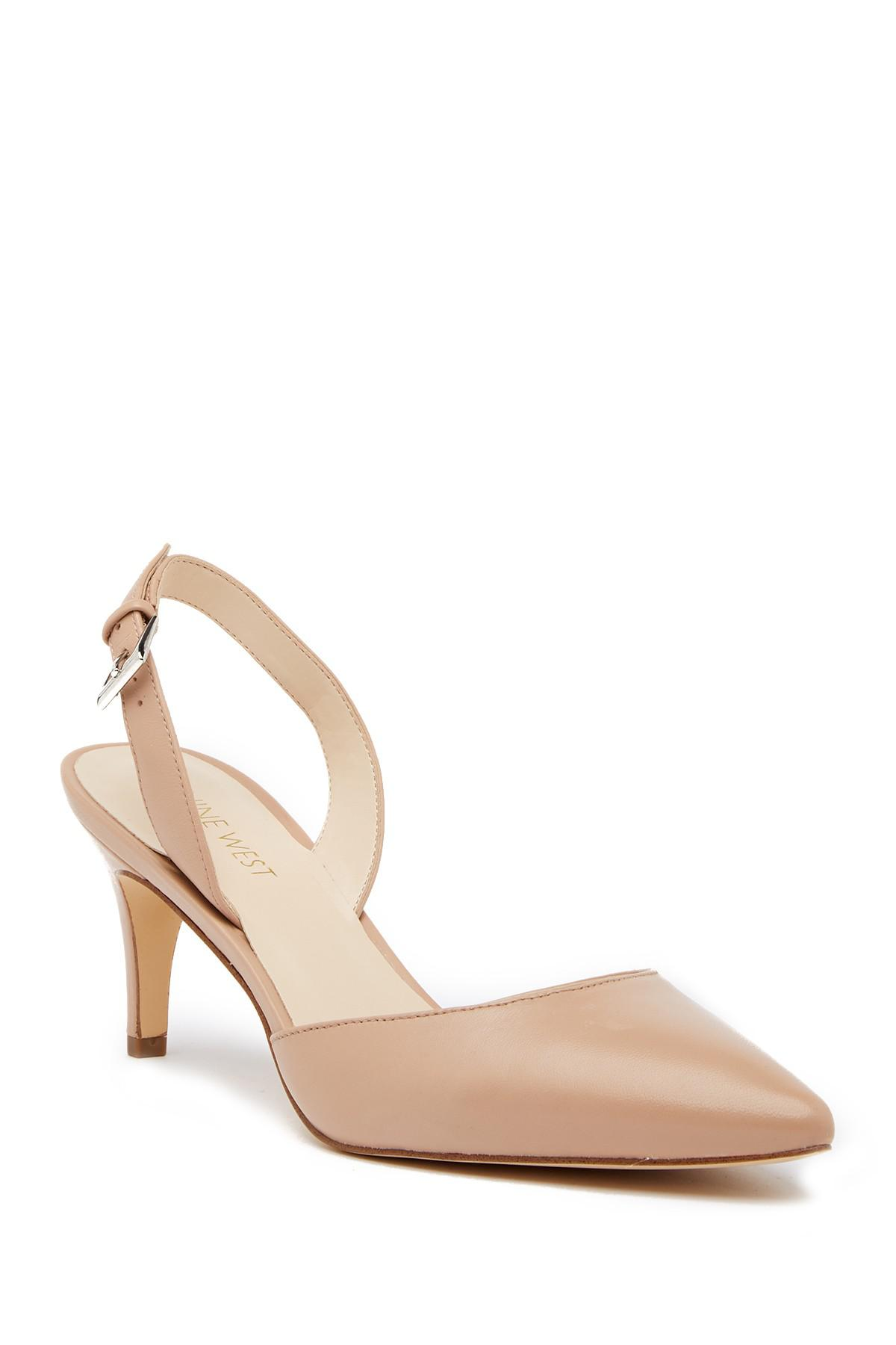 32d35118f4 Nine West - Multicolor Epiphany Slingback Leather Pump - Wide Width  Available - Lyst. View fullscreen
