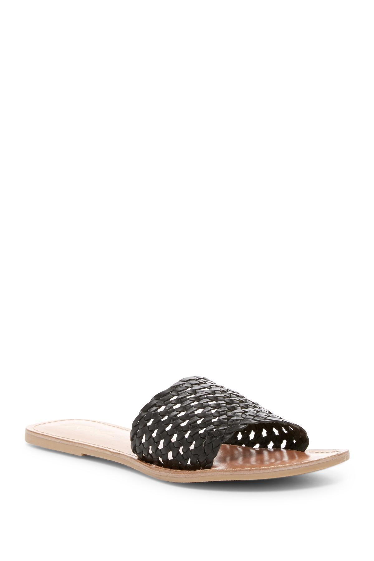 d7881c32dab8 Lyst - Rebels Bettina Leather Lattice Slide Sandal in Black
