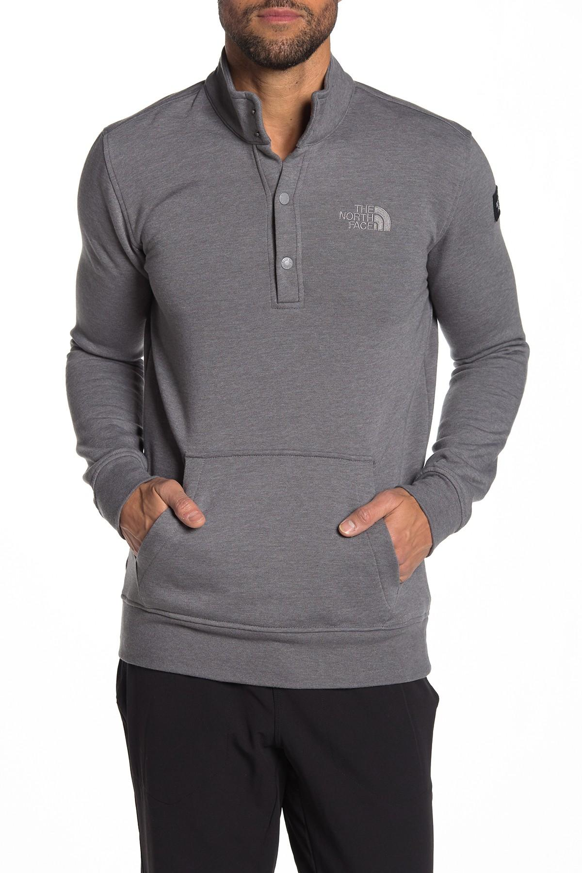 e0b9e3383 Lyst - The North Face Snap Neck Knit Jacket in Gray for Men