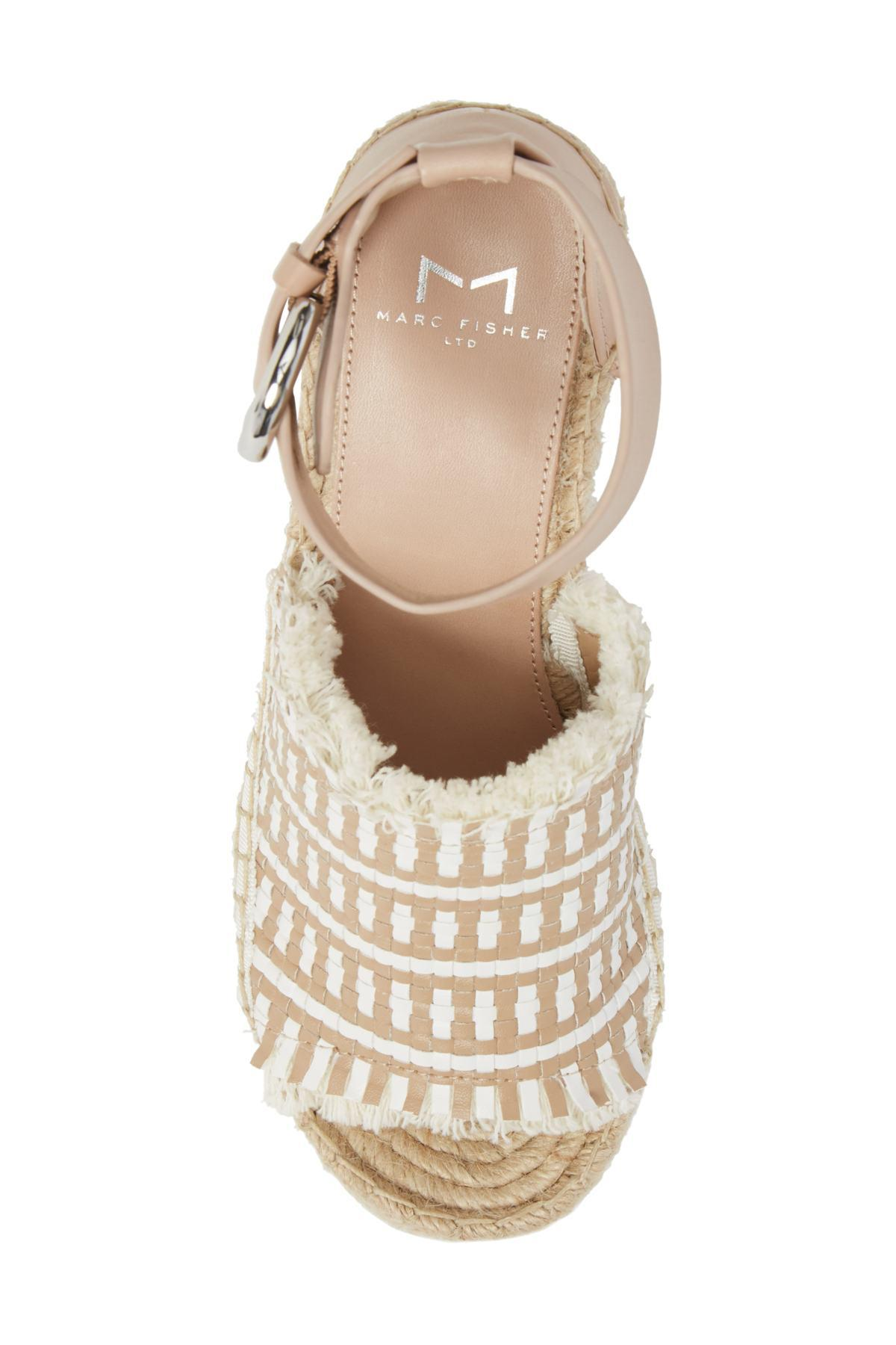 869a07b0e2f Lyst - Marc Fisher Andrew Espadrille Wedge Sandal (women)