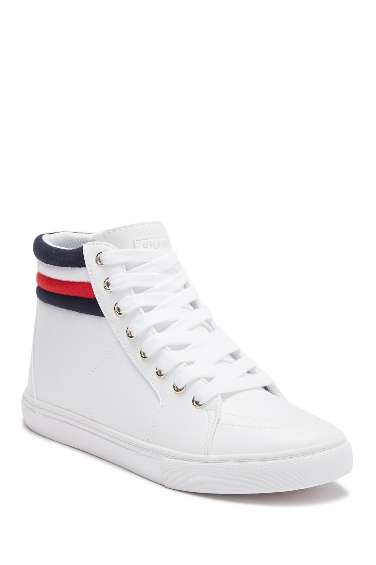 a2115bba3b57a Tommy Hilfiger. Women s White Lowgen High Top Sneaker