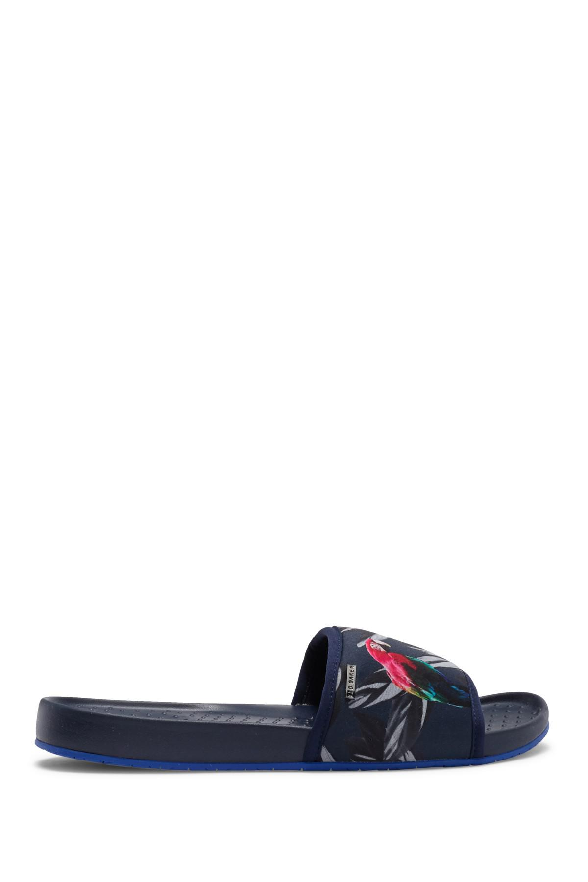 aacb112f2c2e9 Ted Baker - Blue Sauldi Slide Sandal for Men - Lyst. View fullscreen