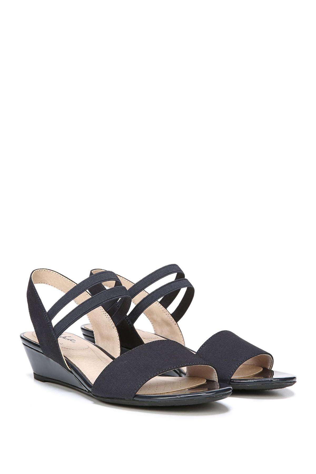 fed93cde490 LifeStride Yolo Strappy Wedge Sandal - Wide Width Available in Blue ...