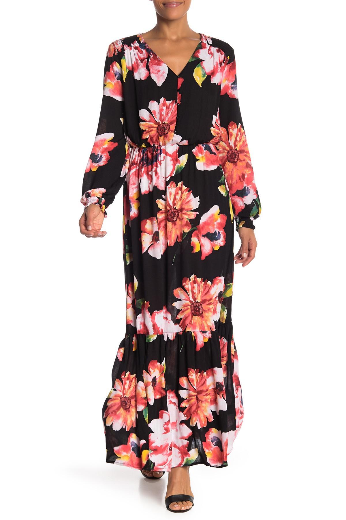 938d3eda639d3d Eci. Women s Floral Printed Maxi Dress