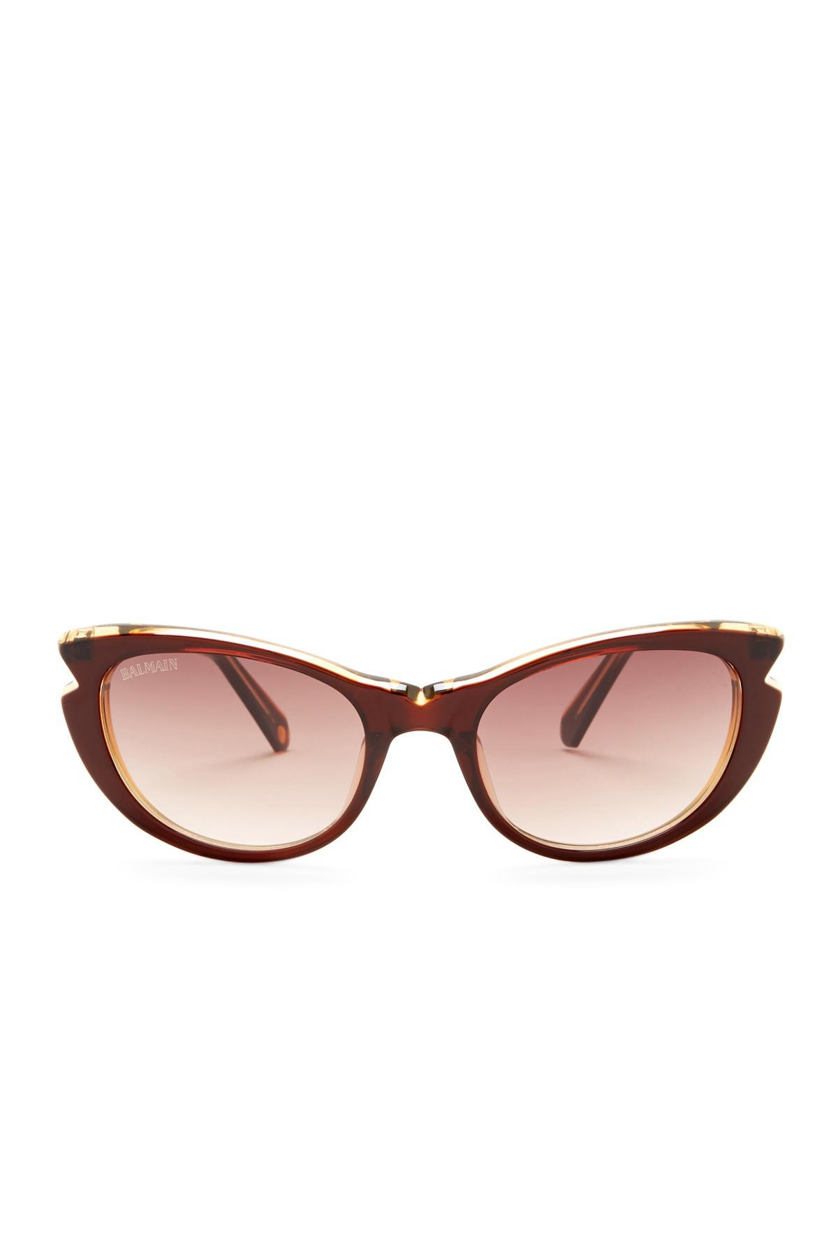 2988e4fba1 Balmain - Brown 53mm Cat Eye Sunglasses - Lyst. View fullscreen