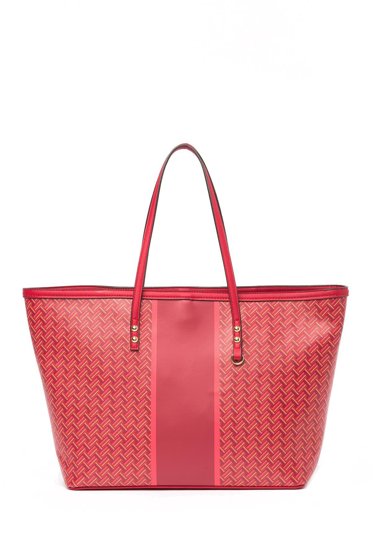 e20b6dfa4ff2 Lyst - Sondra Roberts Printed Tote Bag in Red