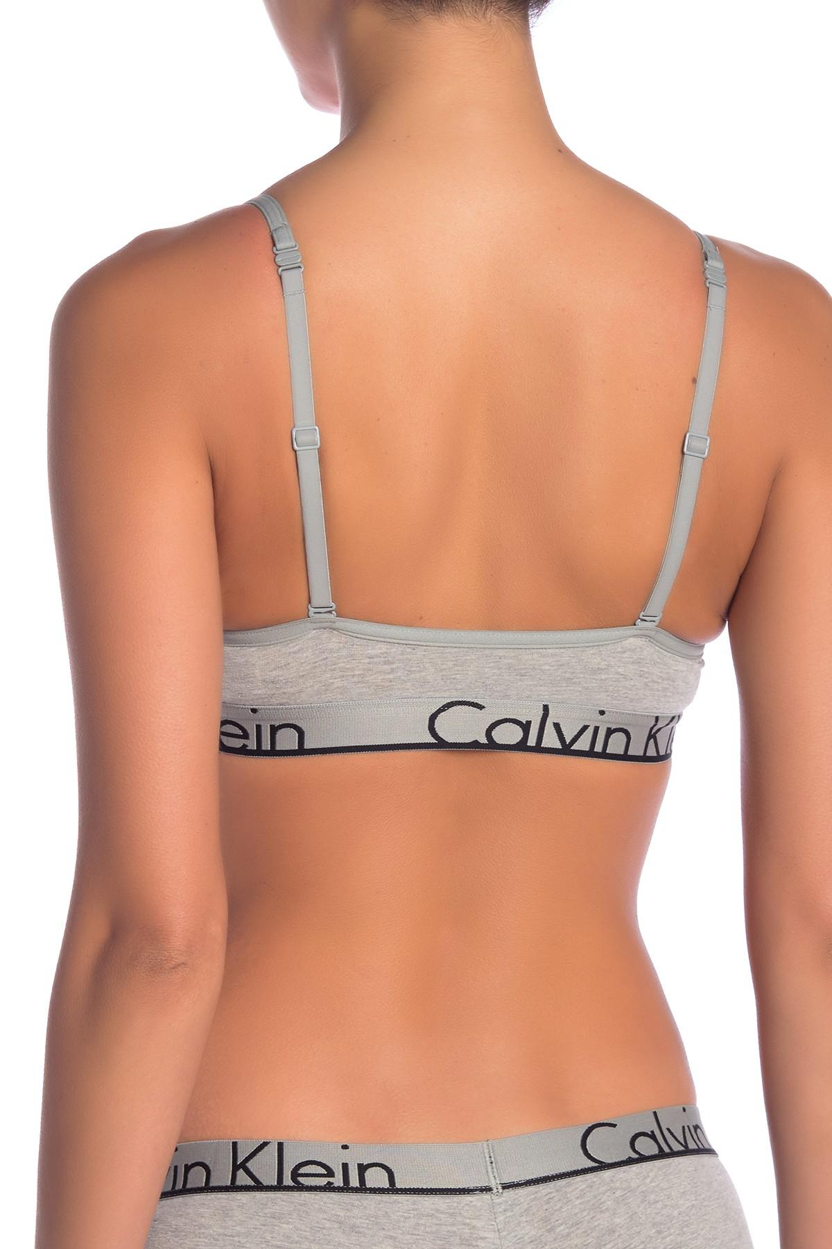 3e2f4498cf Calvin Klein - Gray Triangle Logo Bralette - Lyst. View fullscreen