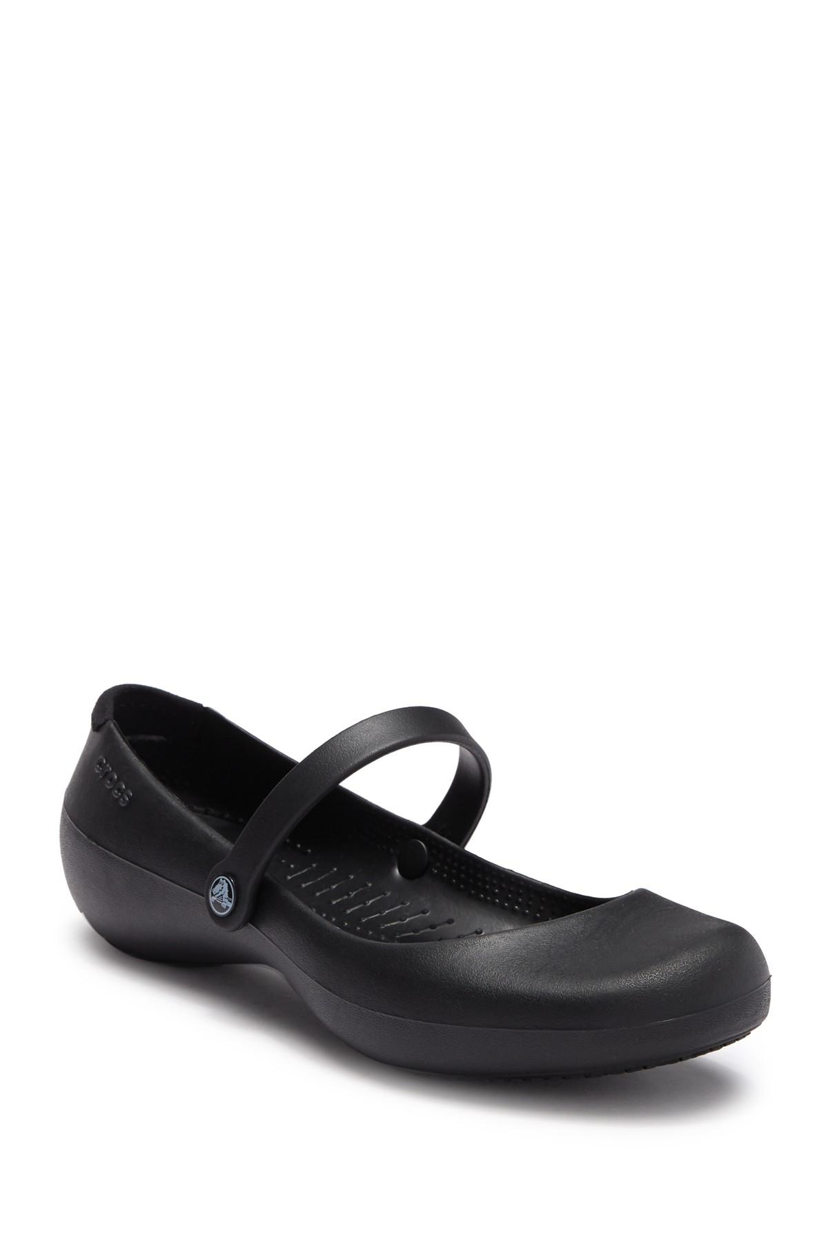 52a3bc006ce Lyst - Crocs™ Alice Work  s Mary Jane in Black