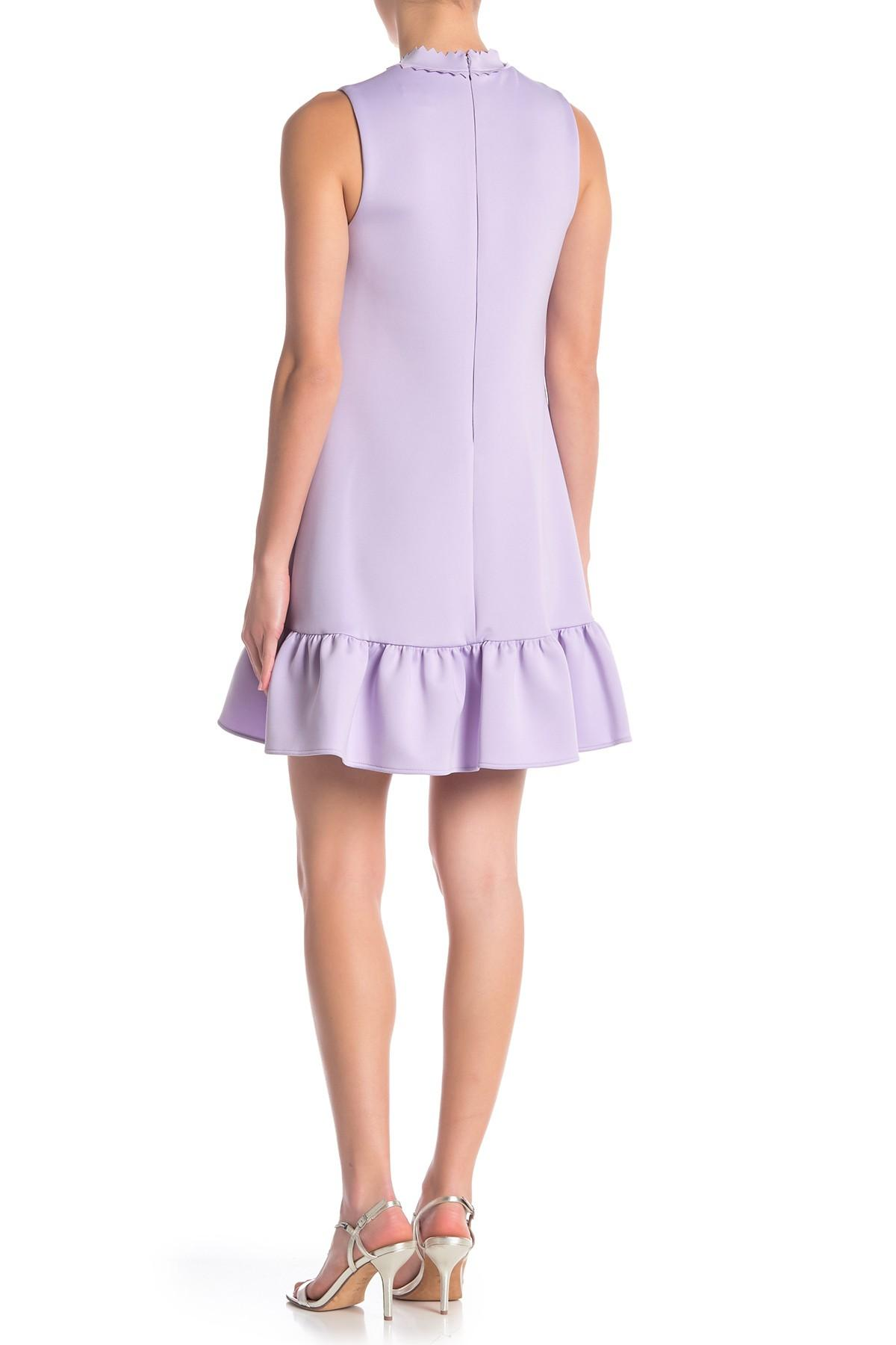65daf7ce1fb Betsey Johnson - Purple Laser-cut Techno Knit Shift Dress - Lyst. View  fullscreen