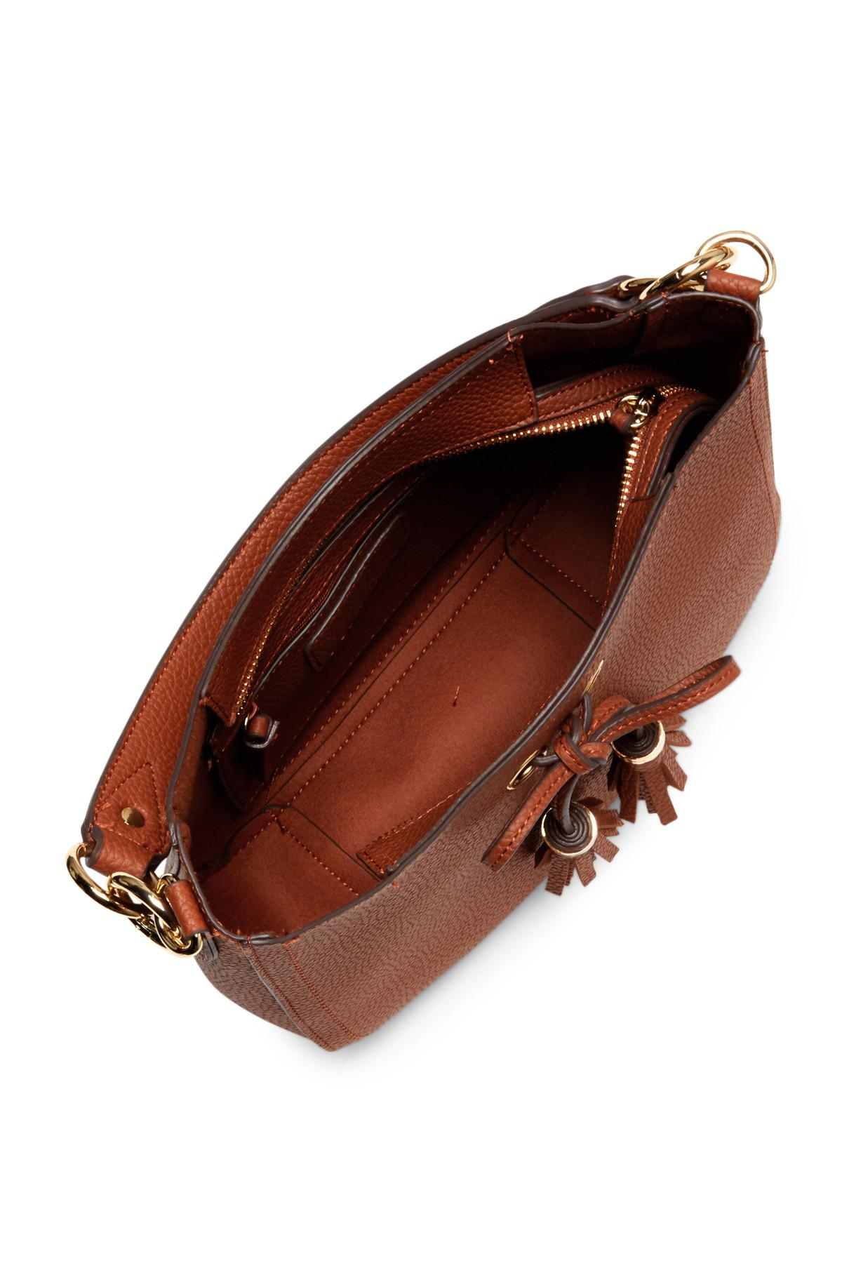74185b9b3e6a Lyst - Jessica Simpson Elenore Crossbody Hobo Bag in Brown