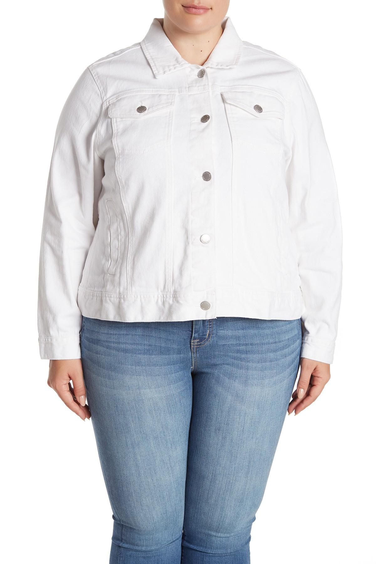 796f9e740 Joe Fresh White Denim Jacket (plus Size) in White - Lyst