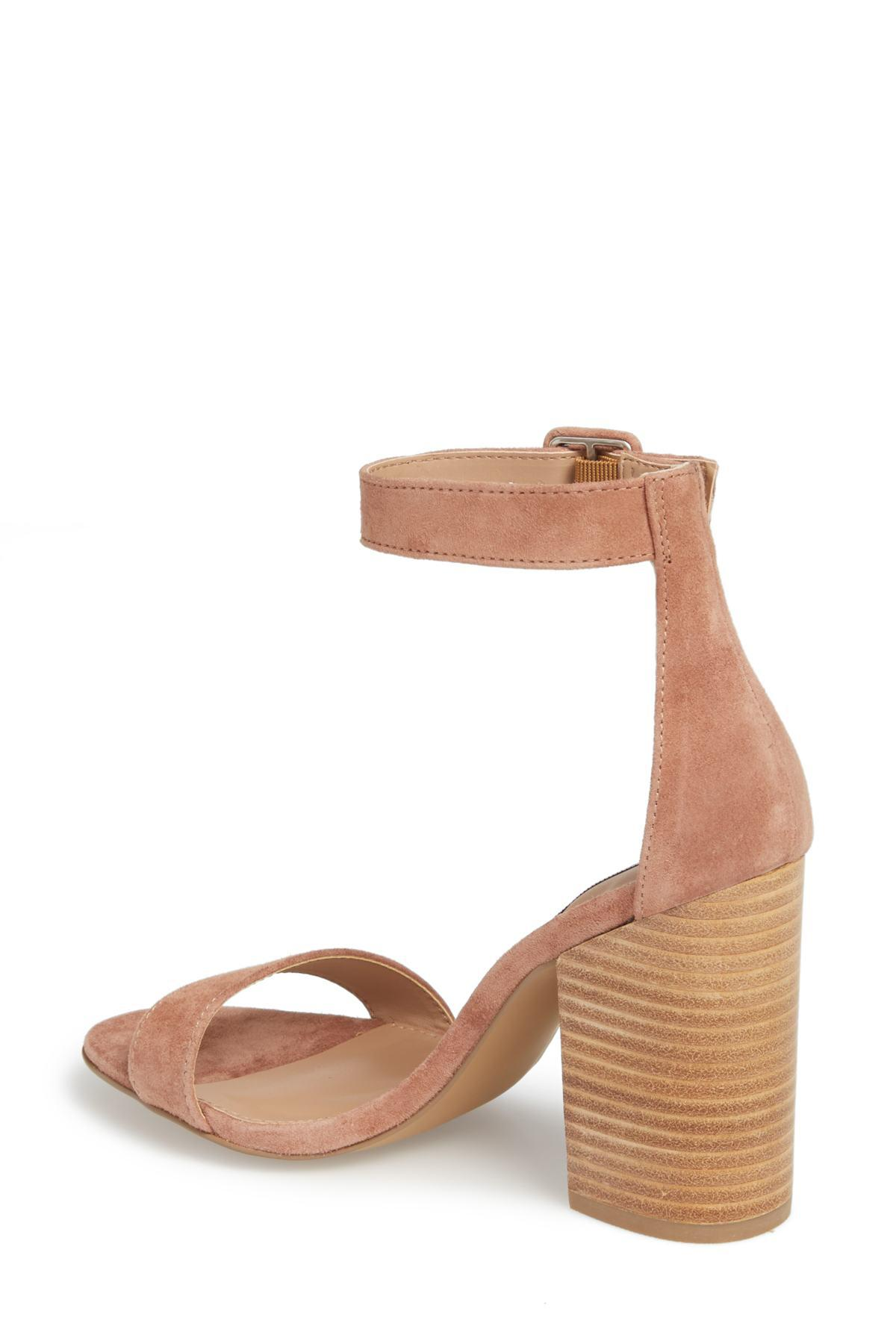 5a66de942c8d Lyst - Steve Madden Frieda Ankle Strap Sandal (women) in Brown