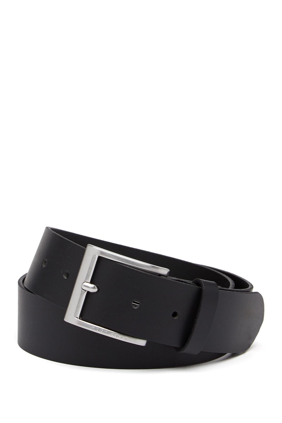 569d6e7e149 BOSS. Men s Black Umbe Leather Belt.  50 From Nordstrom Rack