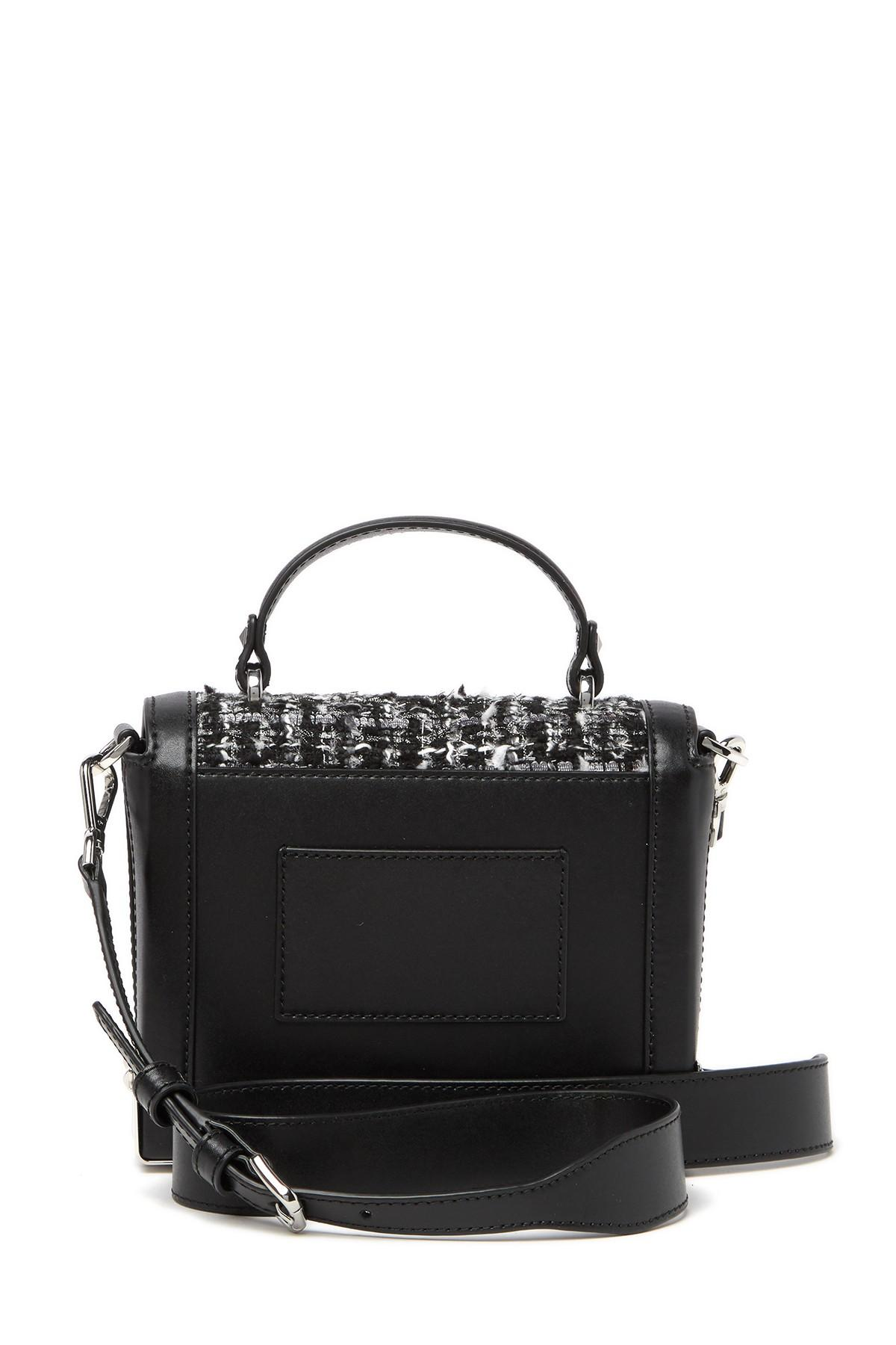e6594859fb23 MICHAEL Michael Kors - Black Jayne Small Tweed Trunk Shoulder Bag - Lyst.  View fullscreen