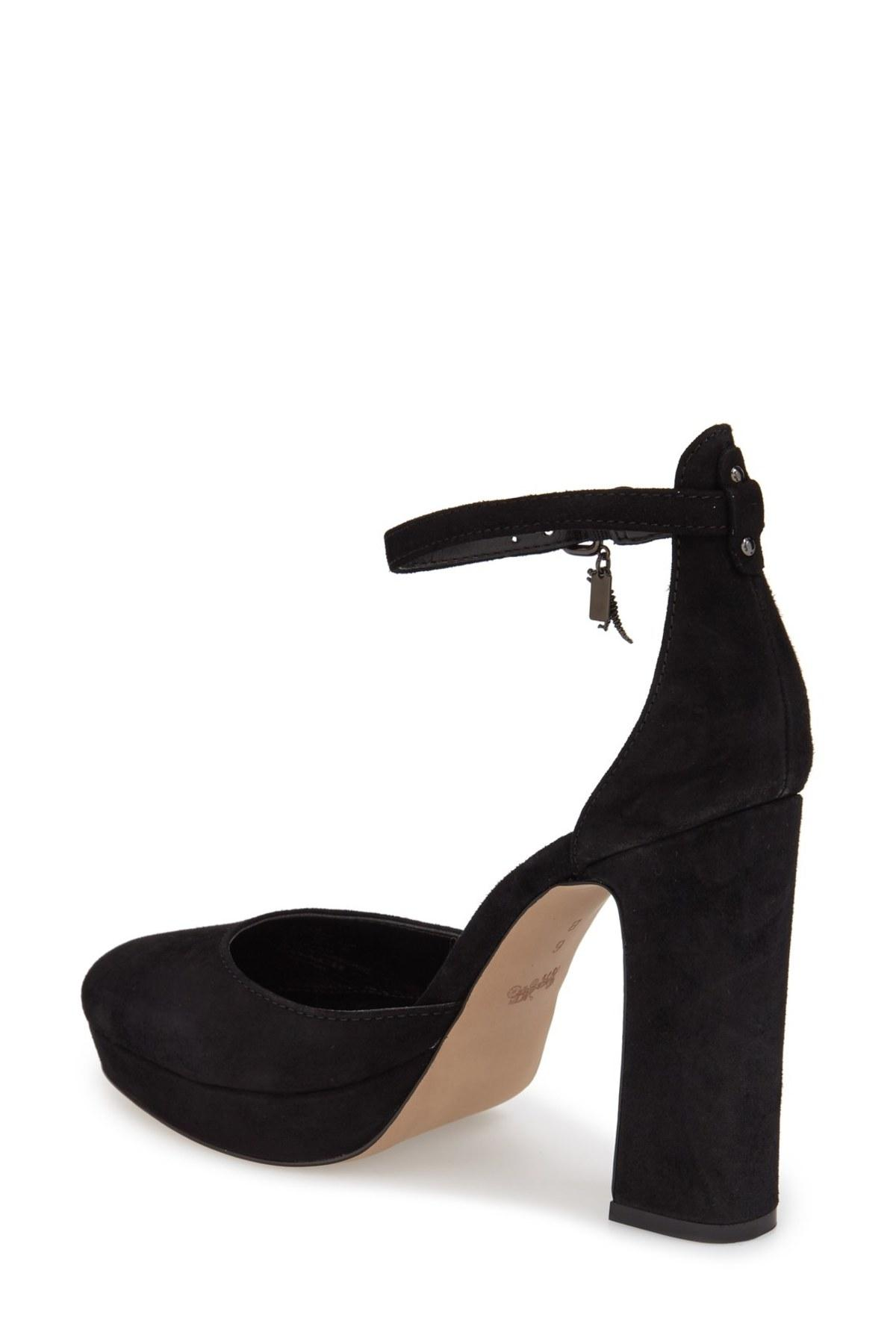 Coach 'chrystie' Ankle Strap Pump (women) in Black | Lyst