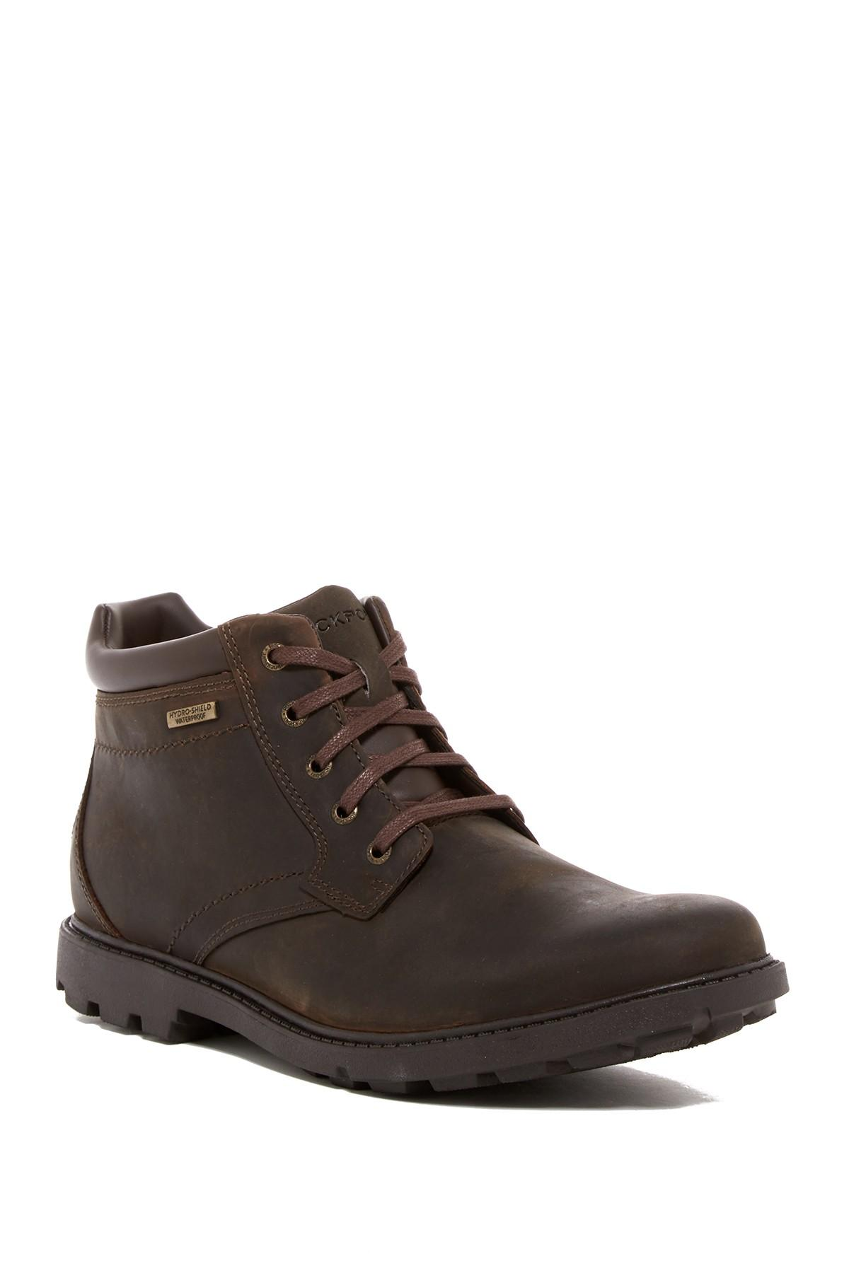 Rockport Storm Surge Waterproof Plain Toe Boot In Brown