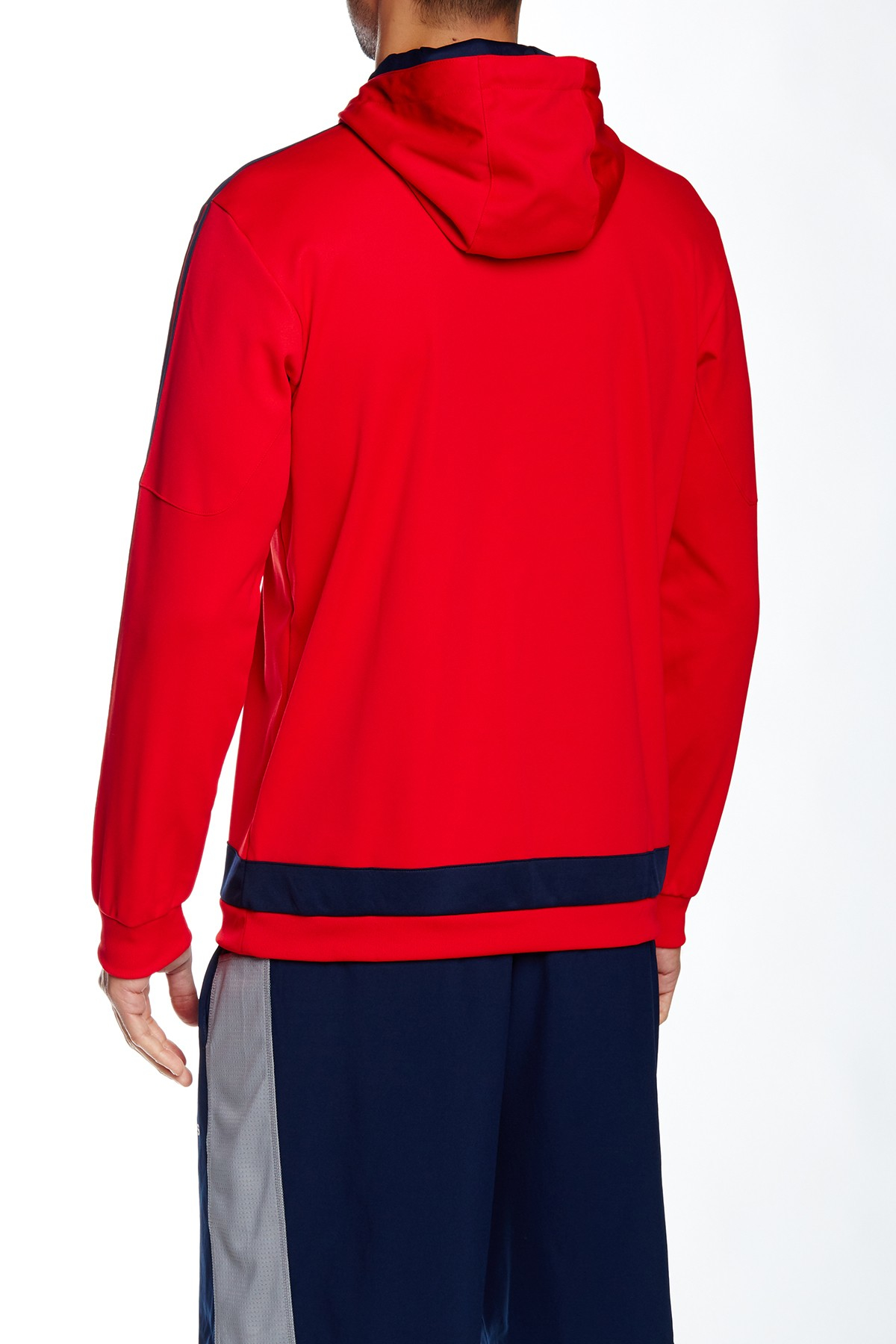 adidas originals tiro hooded pullover in red for men lyst. Black Bedroom Furniture Sets. Home Design Ideas