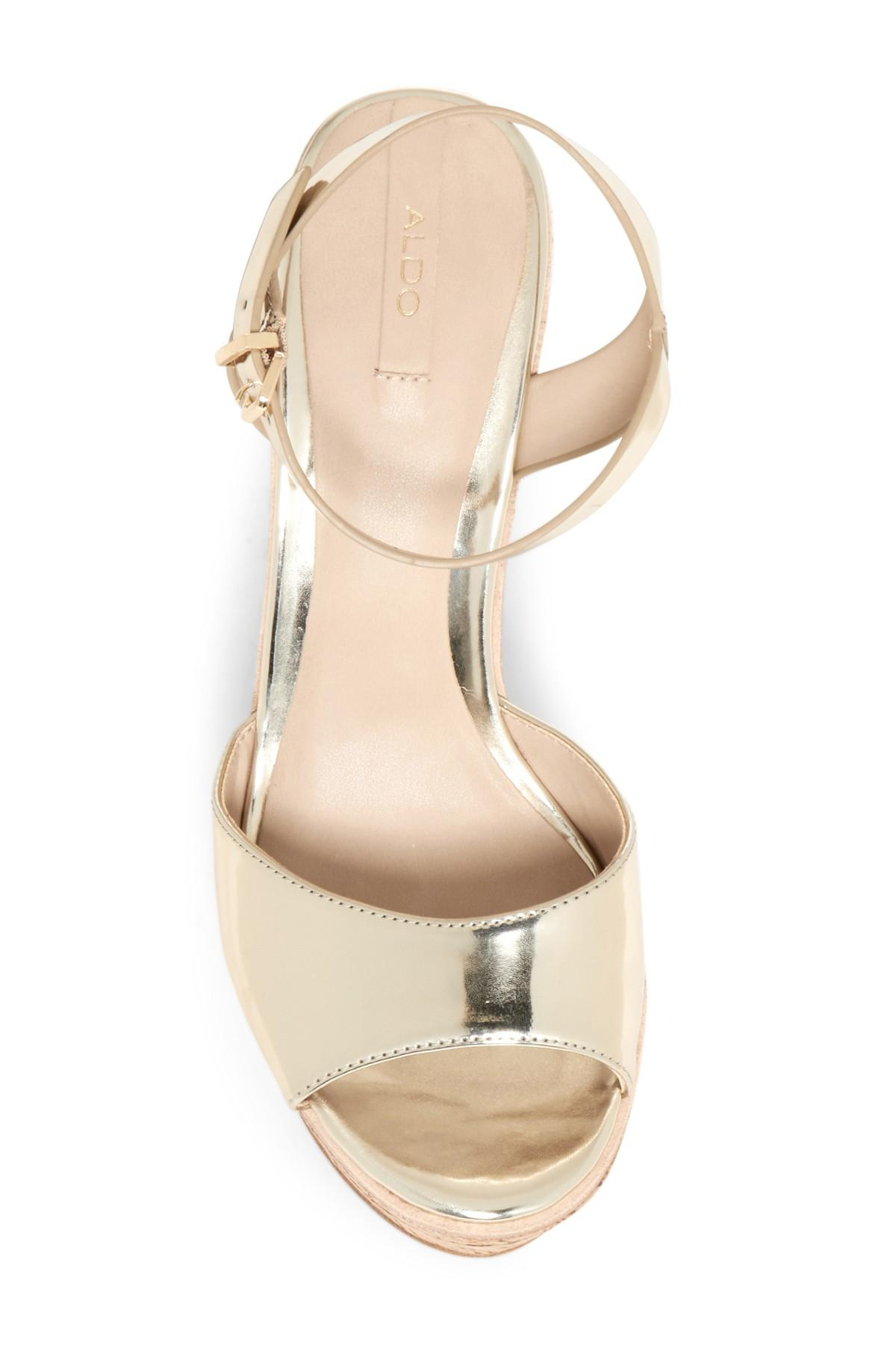 3e84c04a16e Lyst - ALDO Aralinna Wedge Sandal in Metallic
