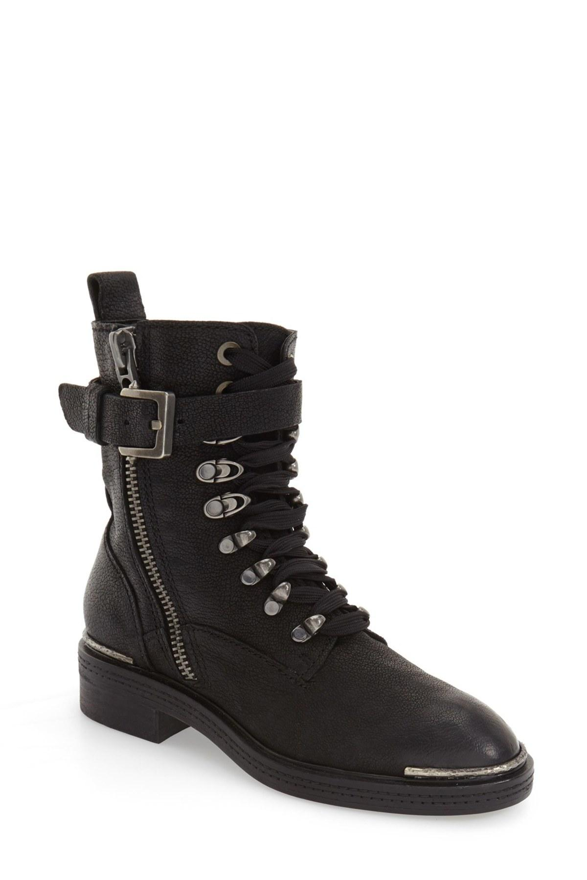 Dolce vita 'avalon' Combat Boot (women) in Black | Lyst