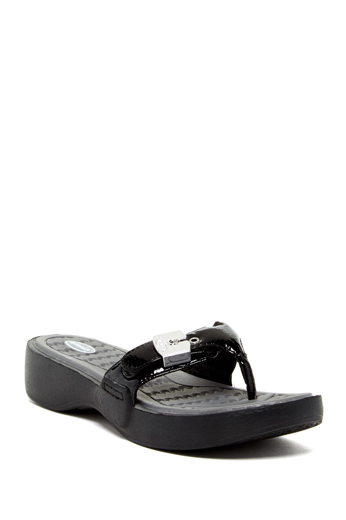Dr Scholls Roll Sandal In Black Save 34 Lyst