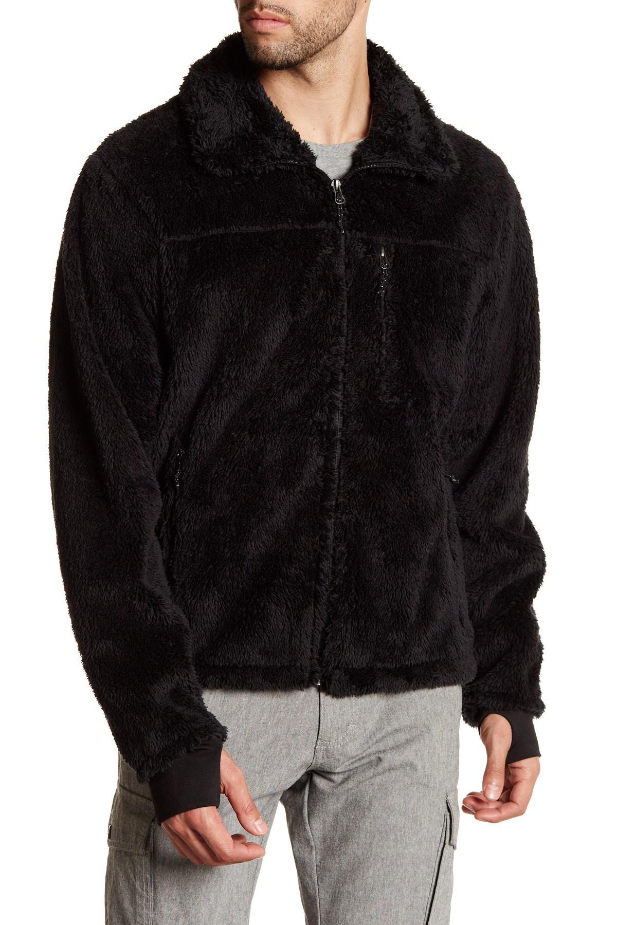 Lyst Hawke Amp Co Fleece Jacket In Black For Men