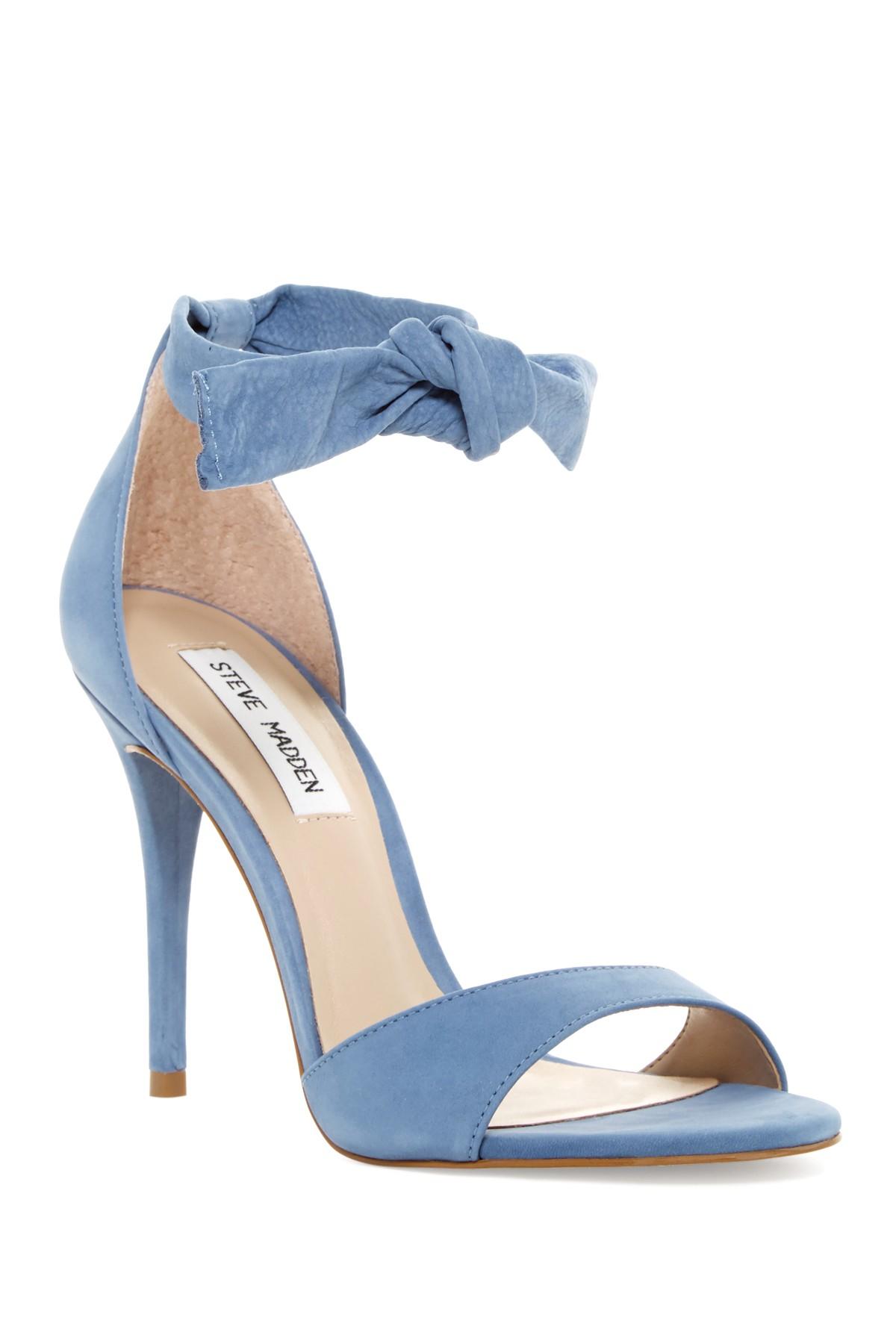 7df9aef1394 Lyst - Steve Madden Bowwtye Heel Sandal in Blue
