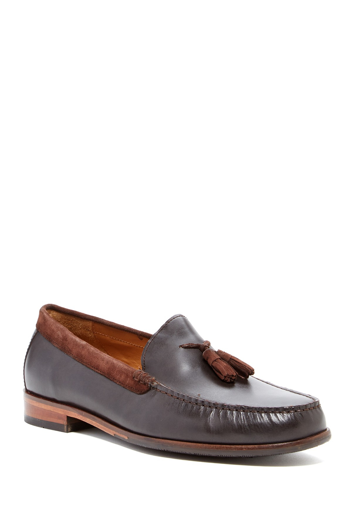 cole haan fairmont tassel loafer in brown for chstnt