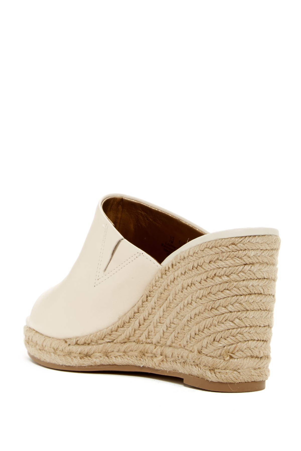Ivory Wedge Leather Shoes