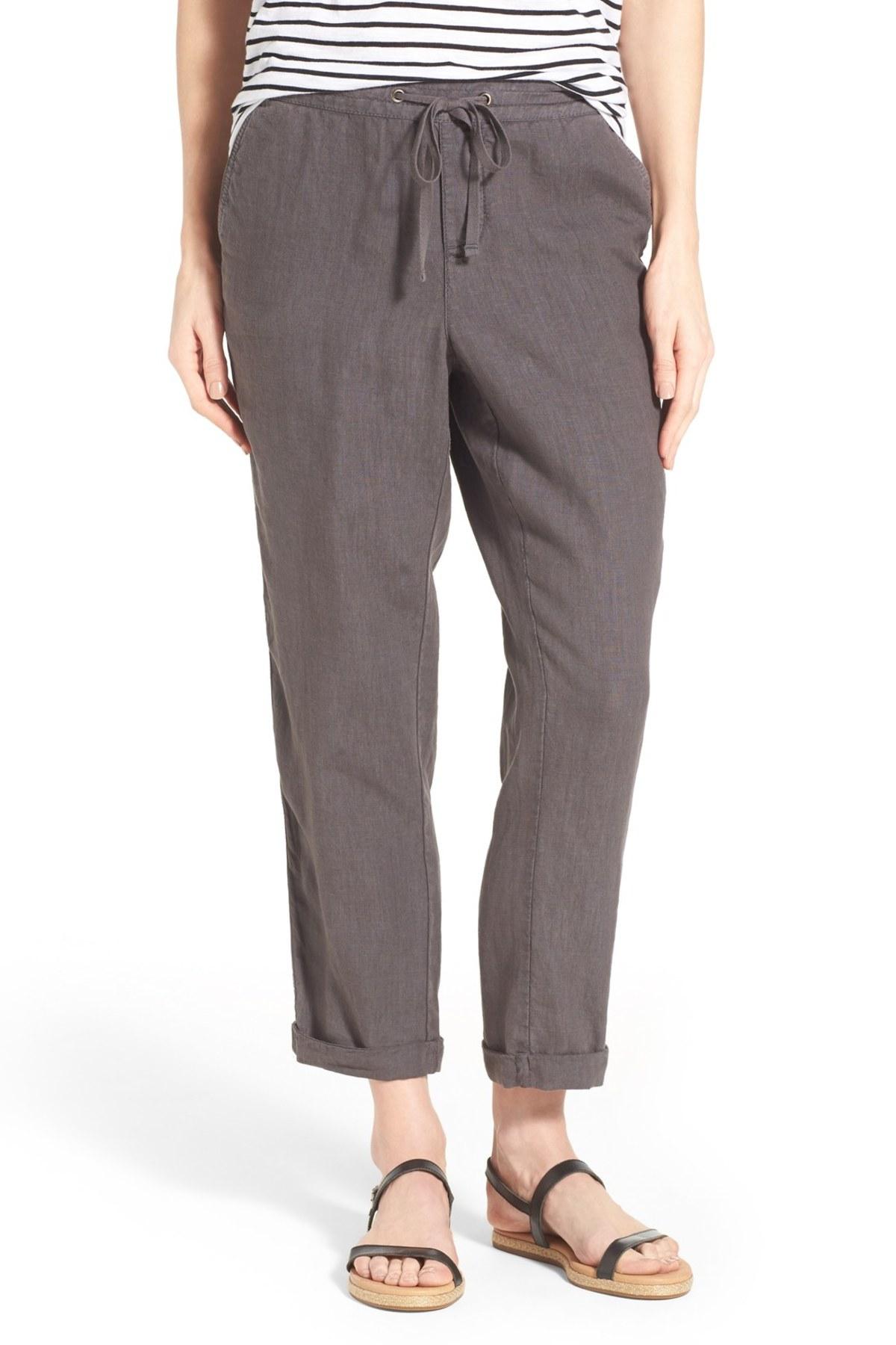 Lastest Grey Linen Pants Womens | Pant So