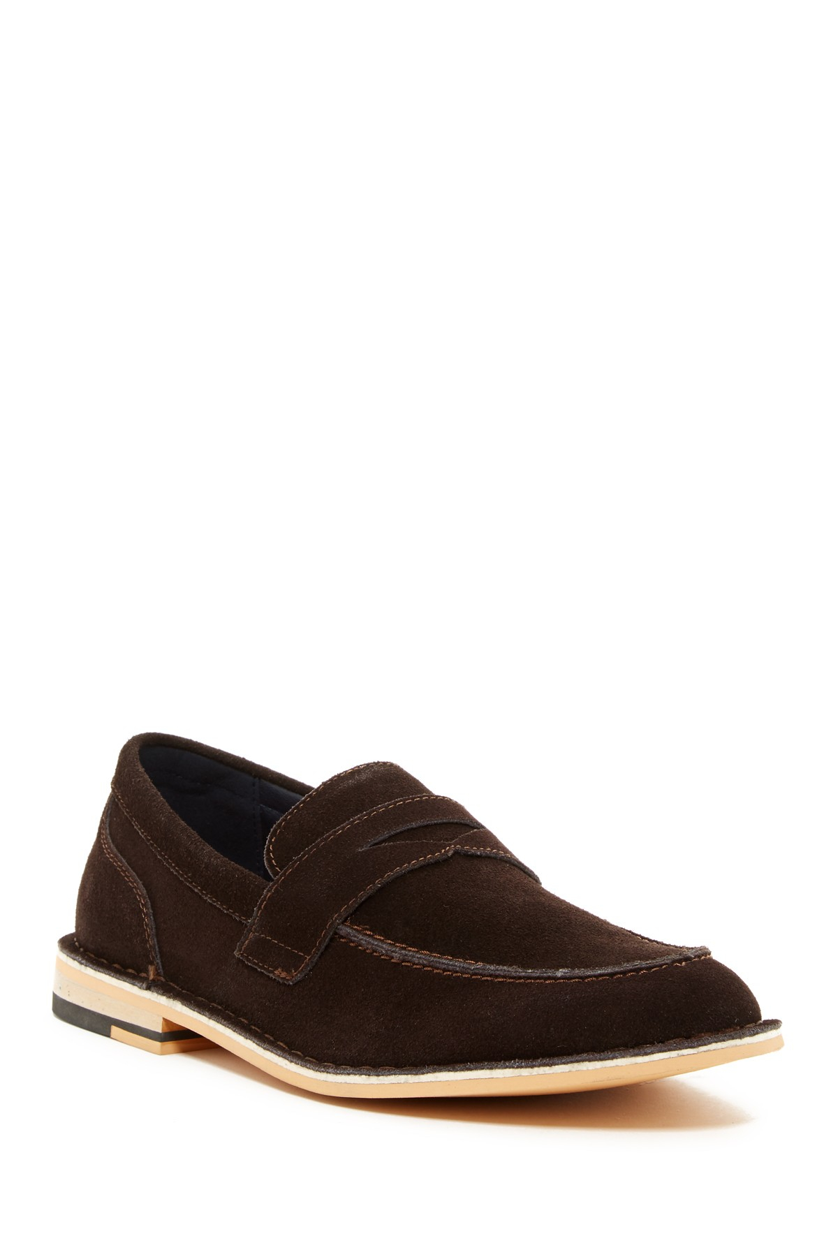 joseph abboud colin loafer in brown for lyst