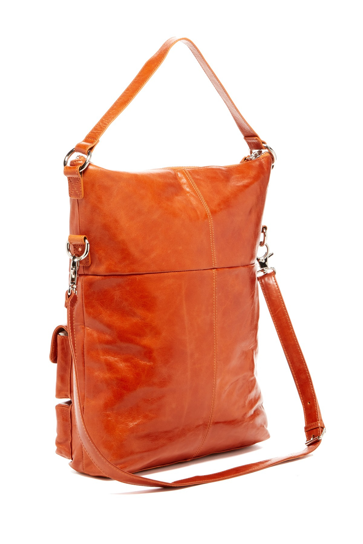 Hobo Explorer Leather Shoulder Bag in Orange | Lyst