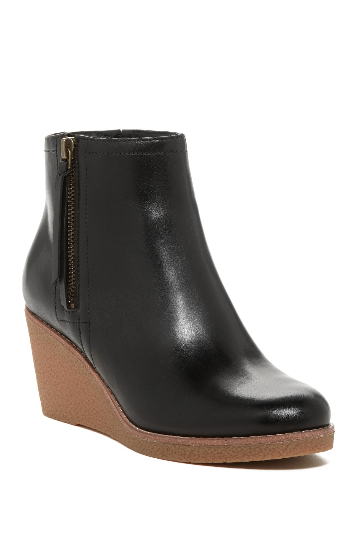 Lyst Cole Haan Auden Leather Wedge Boots In Black