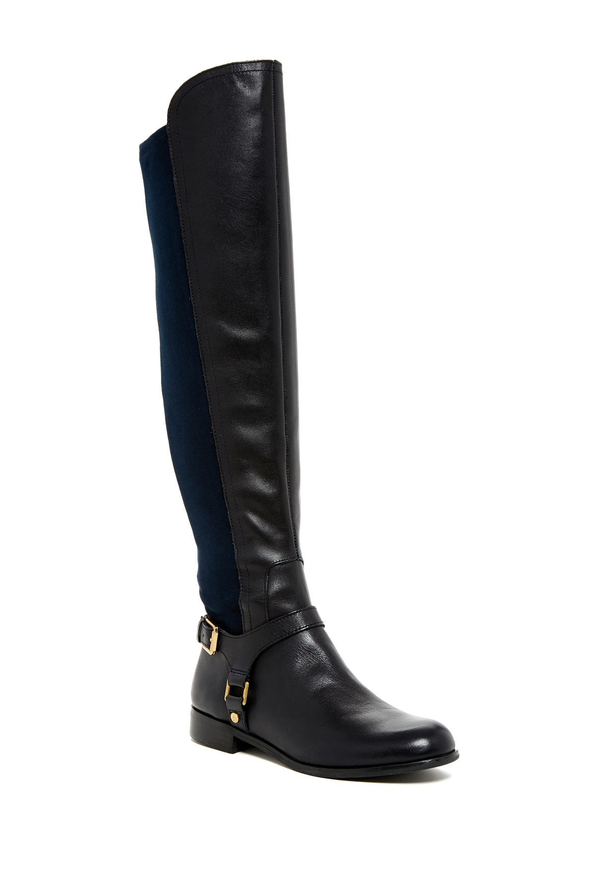 Franco Sarto Mast Stretch Suede Knee High Boots In Blue Lyst