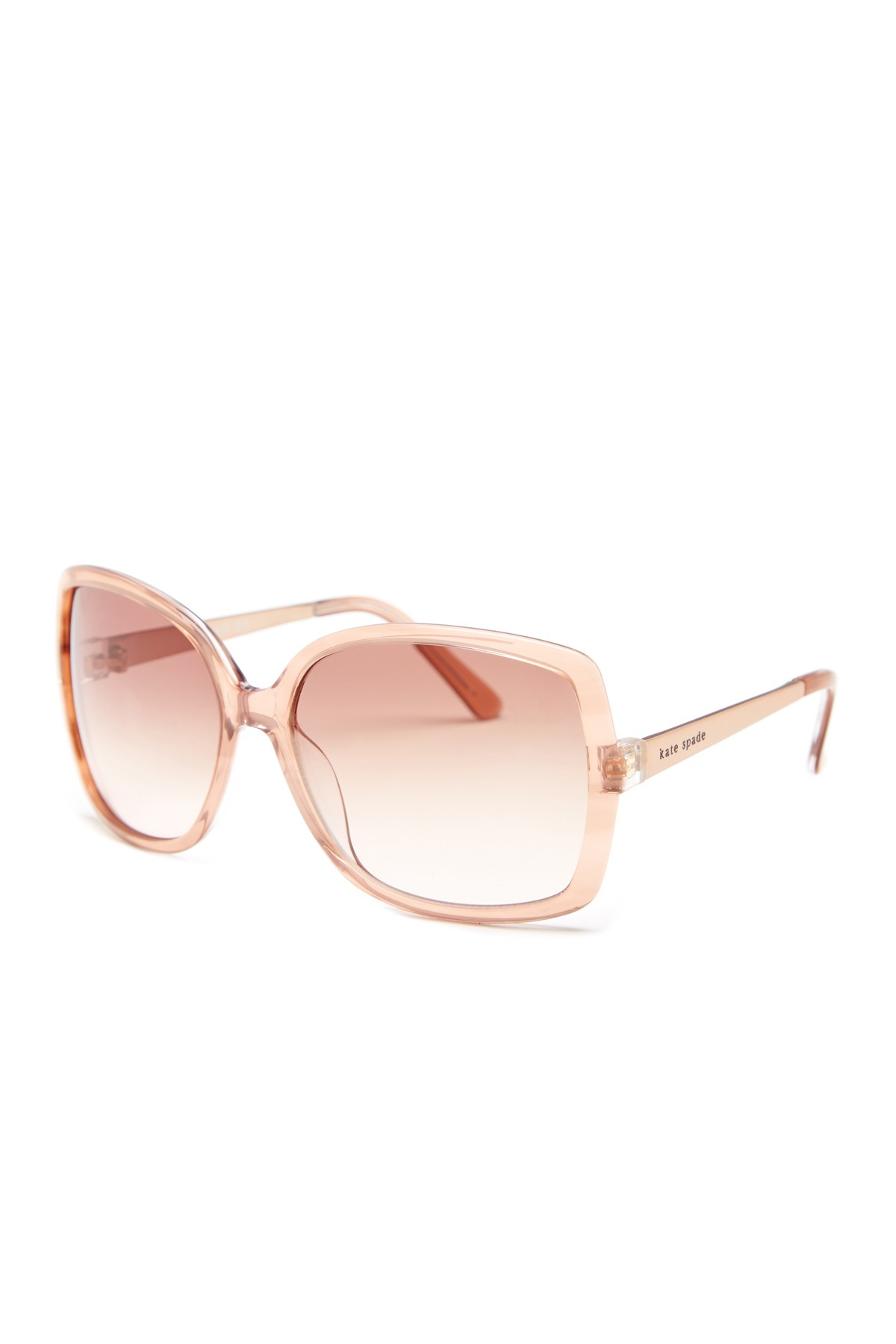 814093f856 Lyst - Kate Spade New York Women s Darrys Oversized Sunglasses in Pink