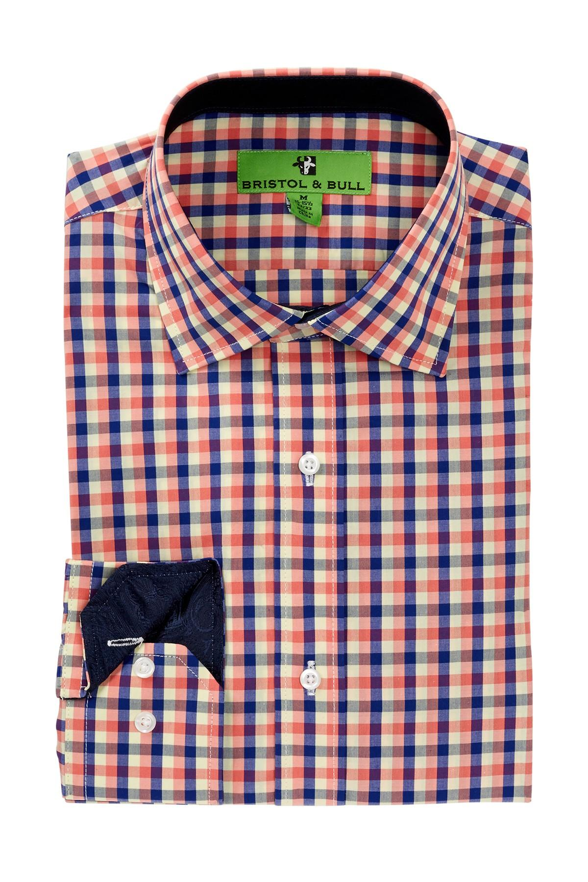 Lyst Bristol Bull Gingham Regular Fit Dress Shirt In