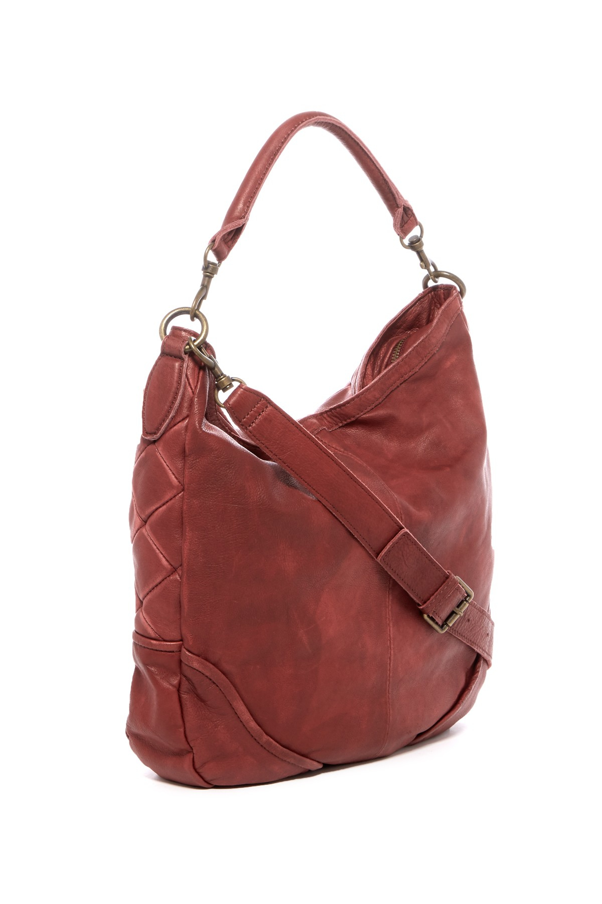 Lyst Liebeskind Berlin Debbie Leather Patch Hobo Bag In Red