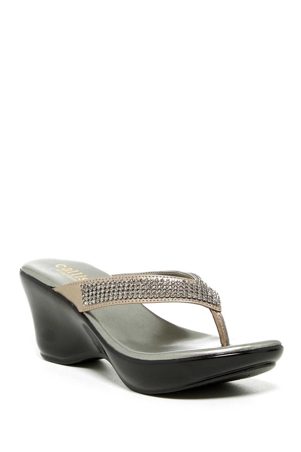 Athena Alexander Desiree Embellished Thong Sandal In