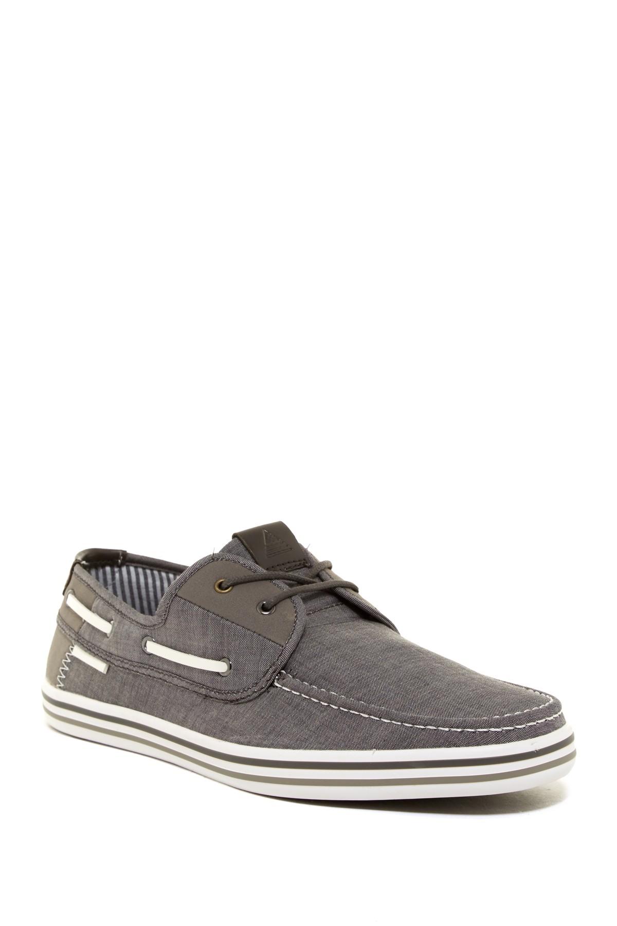 aldo droani boat shoe in gray for lyst