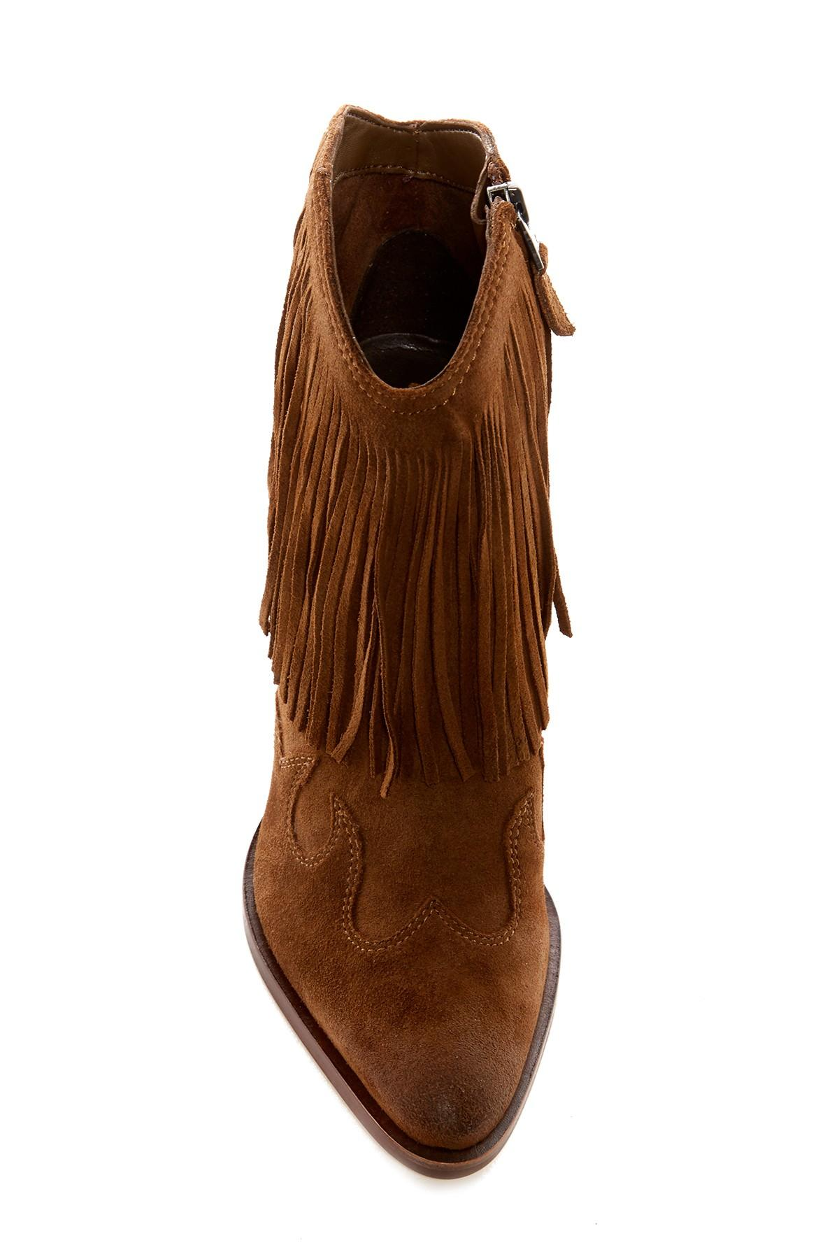 Lyst Sam Edelman Benjie Western Bootie In Brown