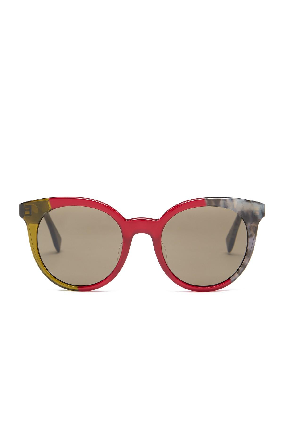 Fendi Women S Round Acetate Sunglasses Lyst