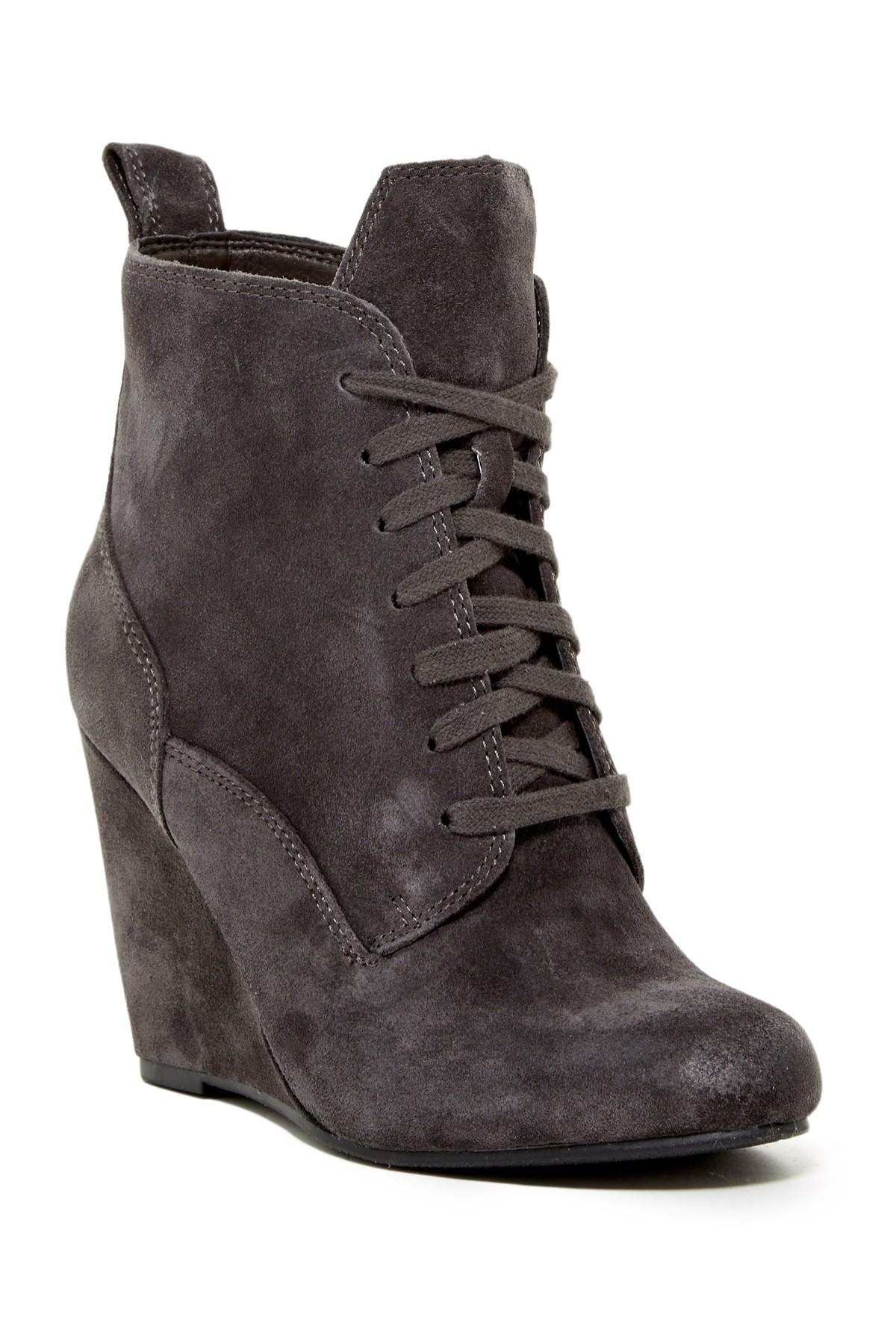 Lyst Dolce Vita Grady Wedge Boot In Gray