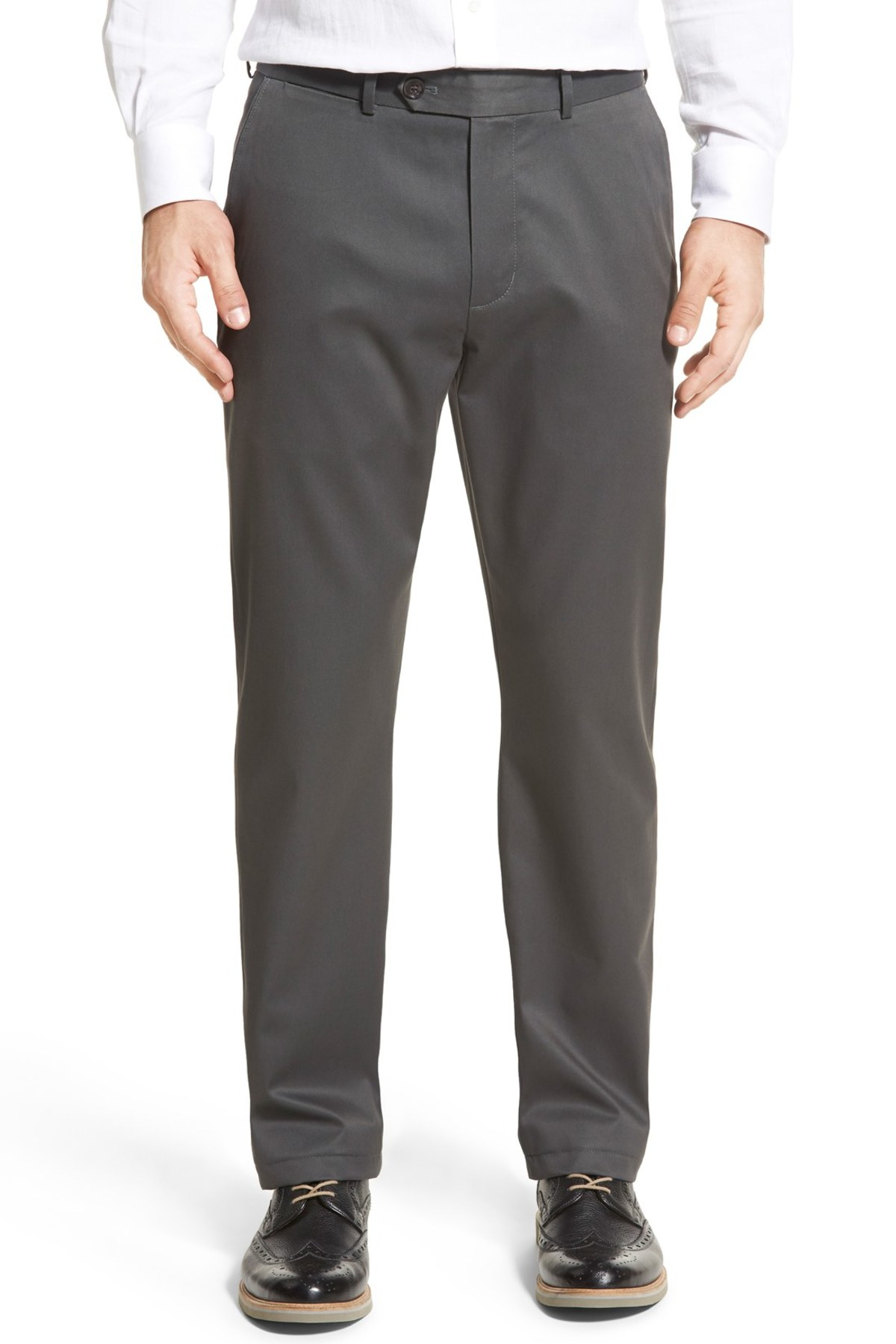Lyst - John W. Nordstrom Non-iron Smartcare Flat Front ...