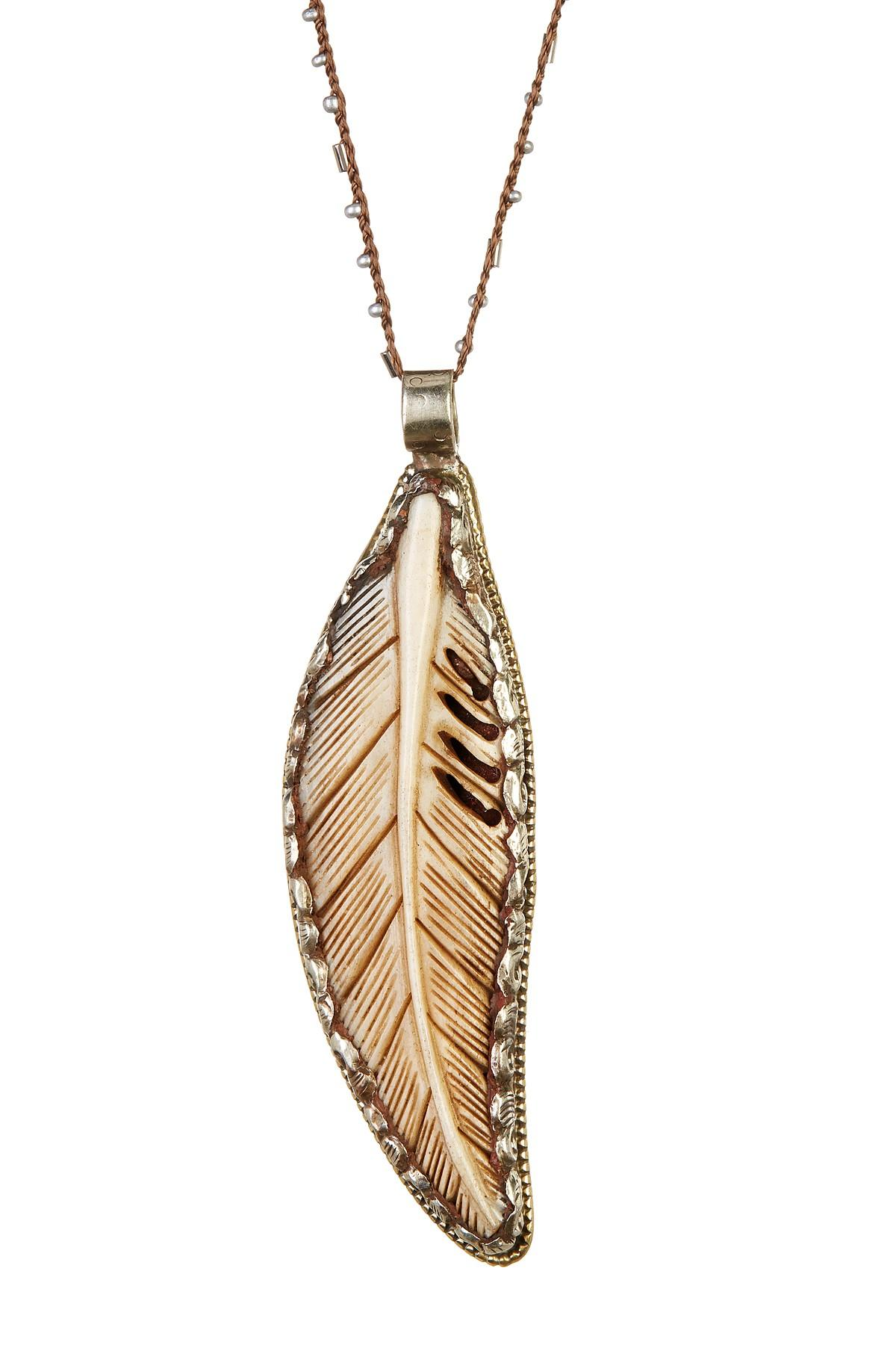 Lyst Native Gem Jewelry Sterling Silver Jumbo Feather