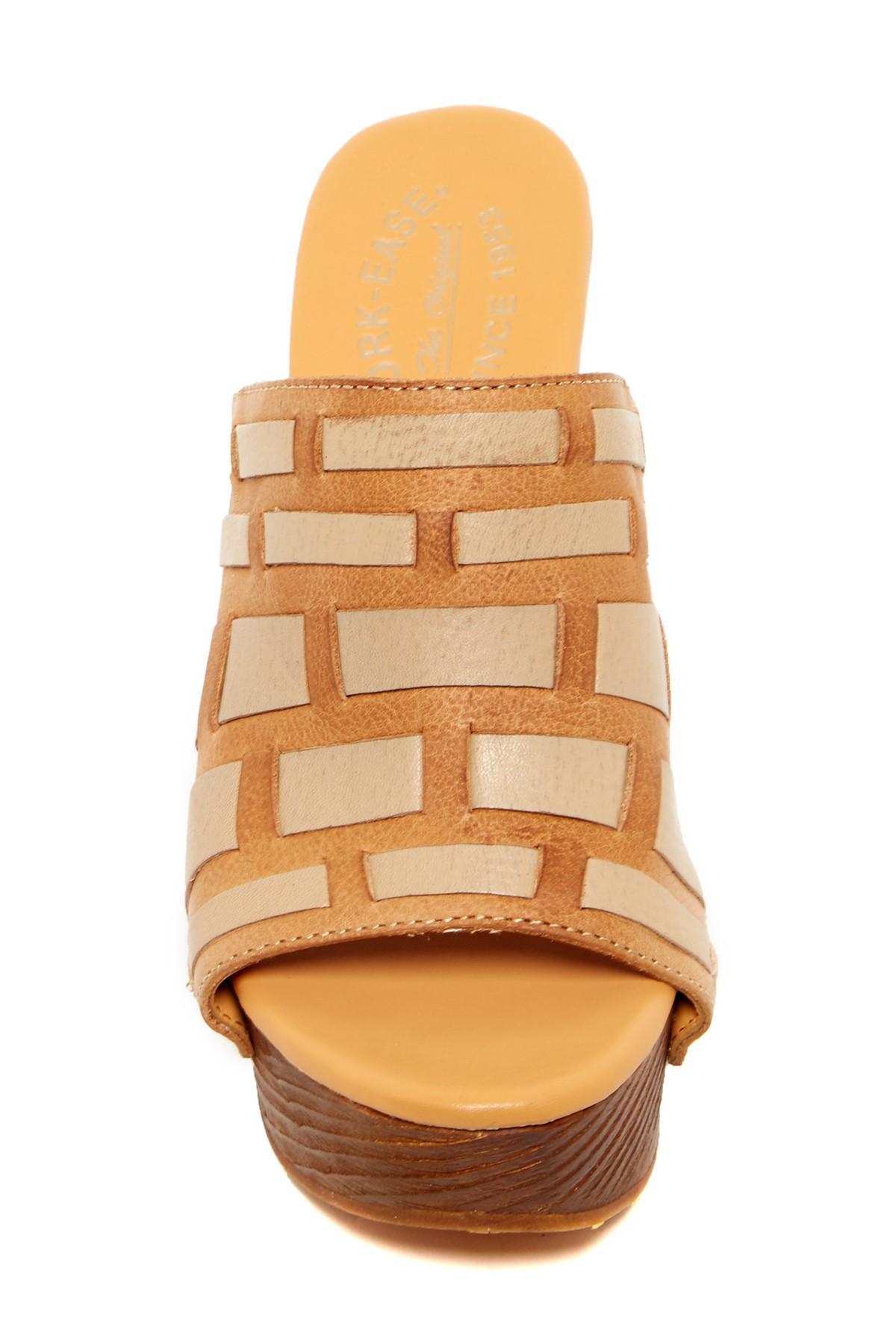 Stacked Shoe Rack: Kork-Ease Charissa Platform Sandal In Brown