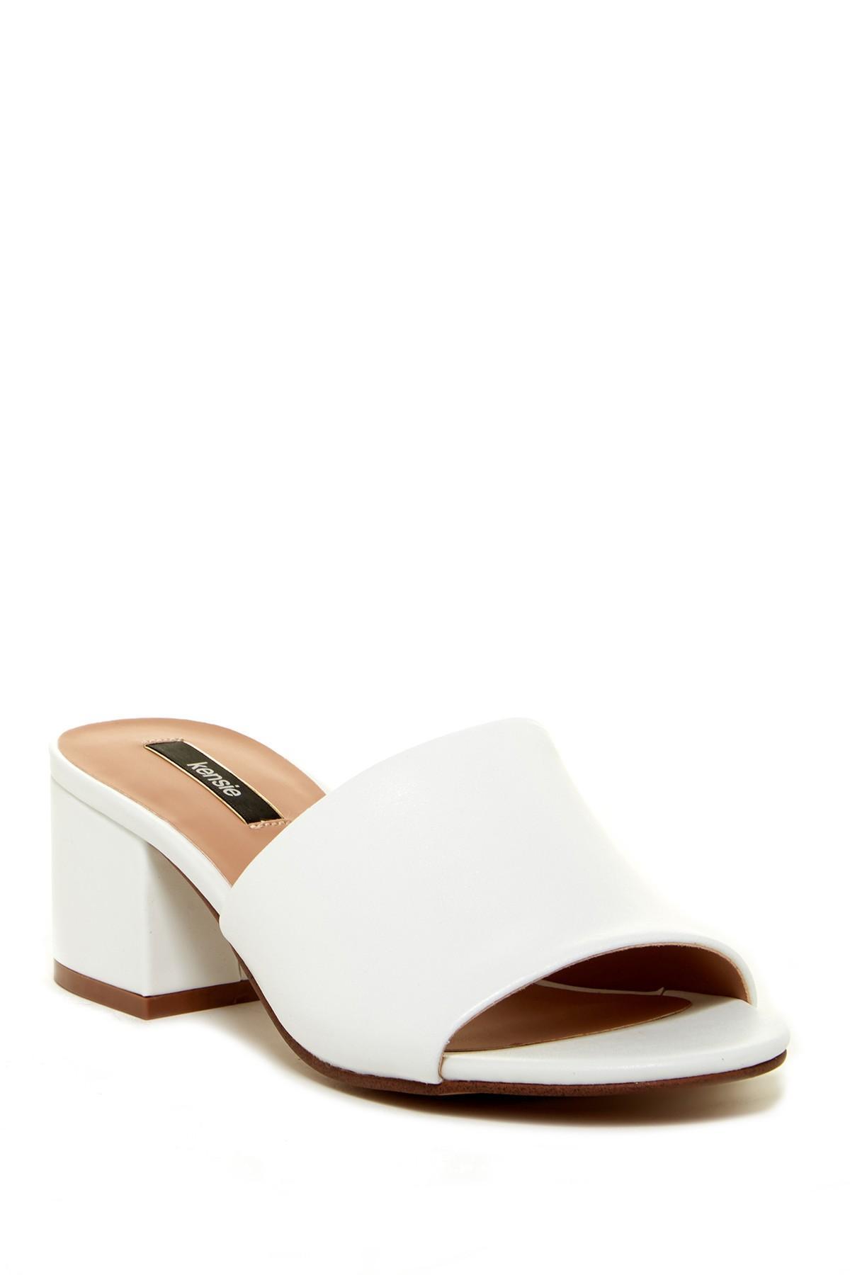 Lyst Kensie Helina Block Heel Sandal In White